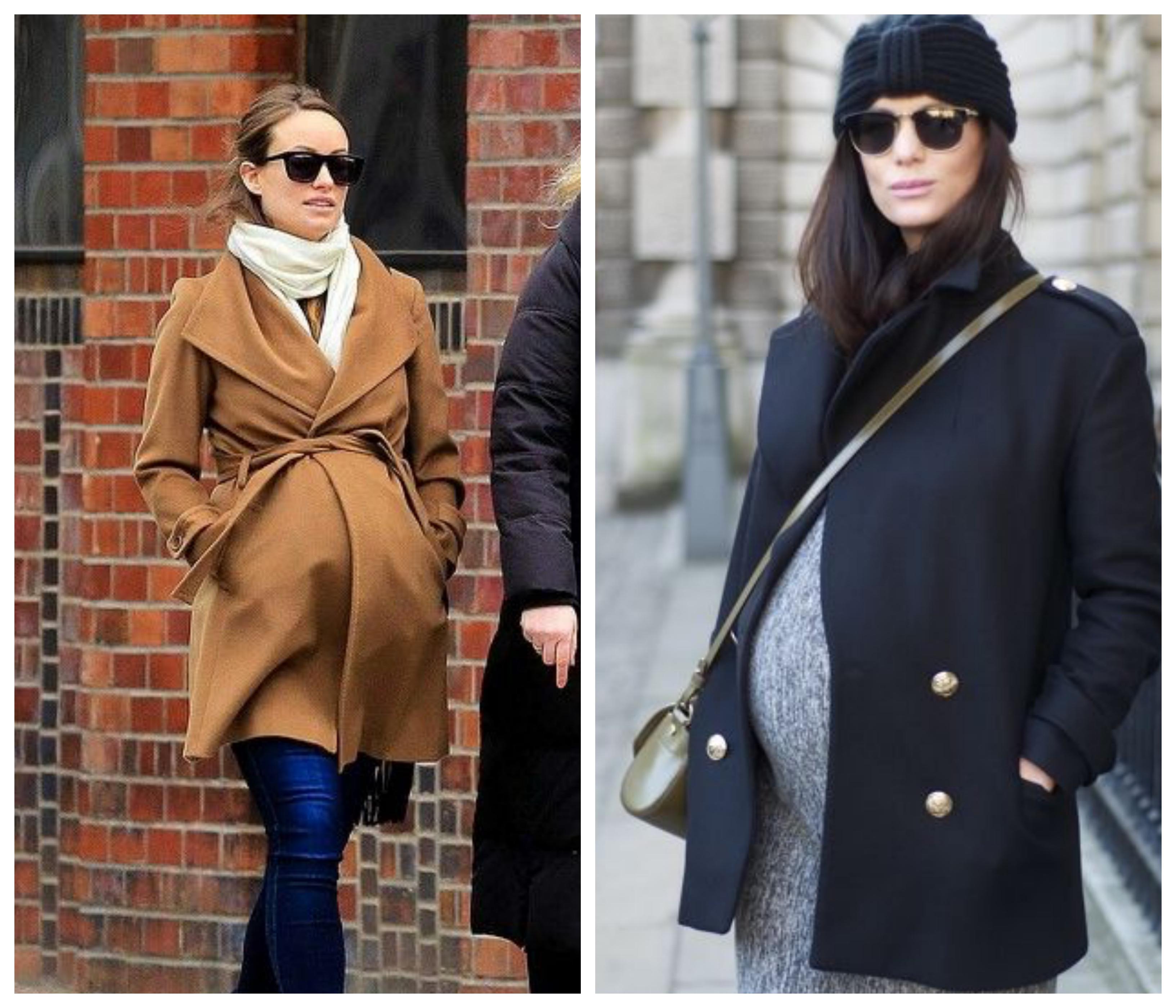 Зимнее женское пальто для беременных