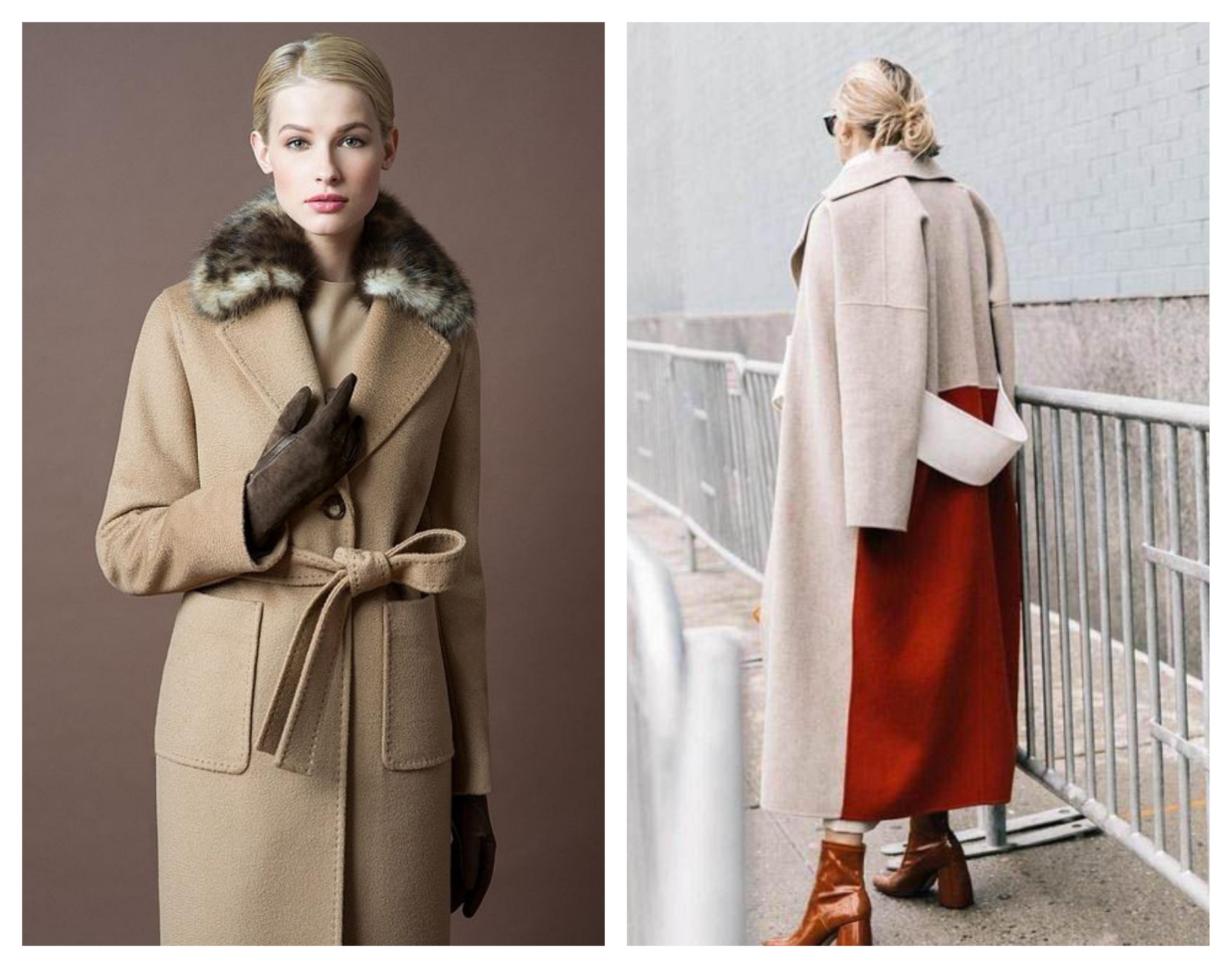 Шерстяное зимнее женское пальто