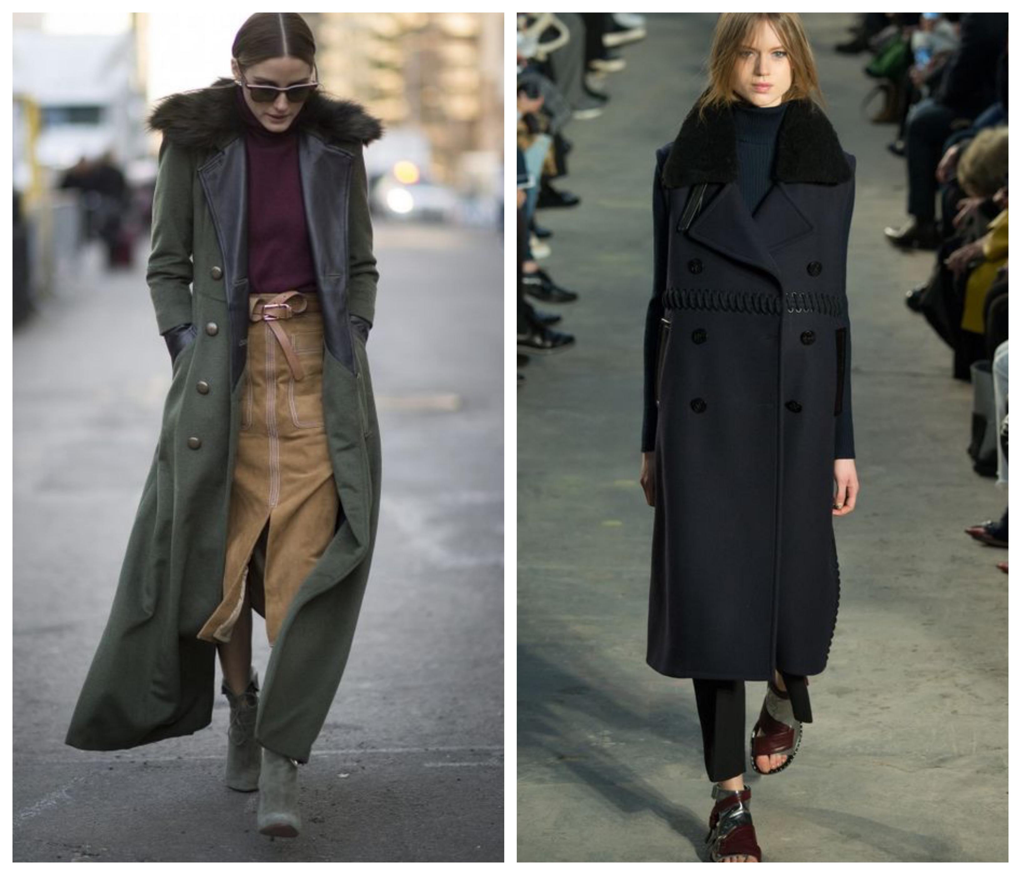Зимнее женское пальто-бушлат
