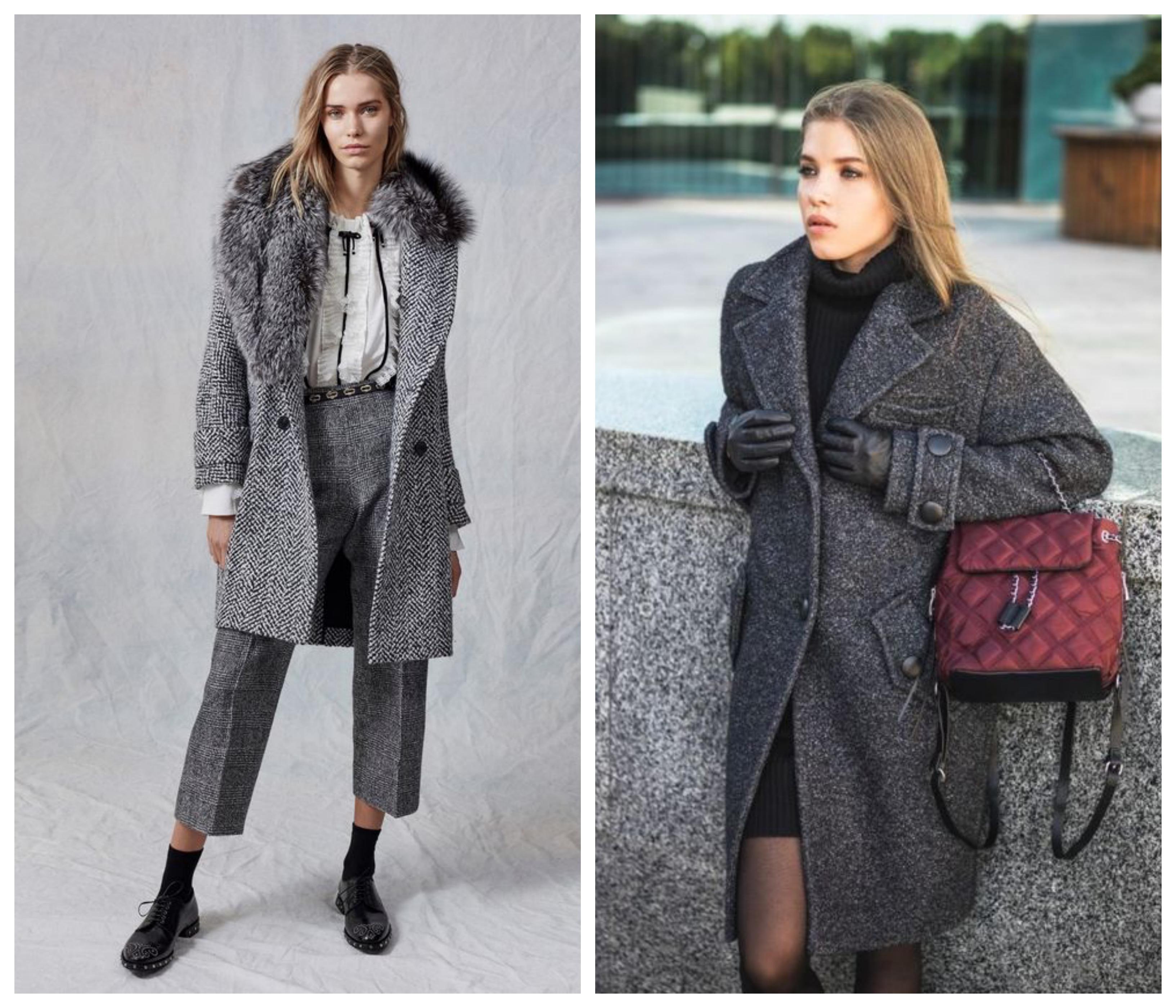 Драповое зимнее женское пальто