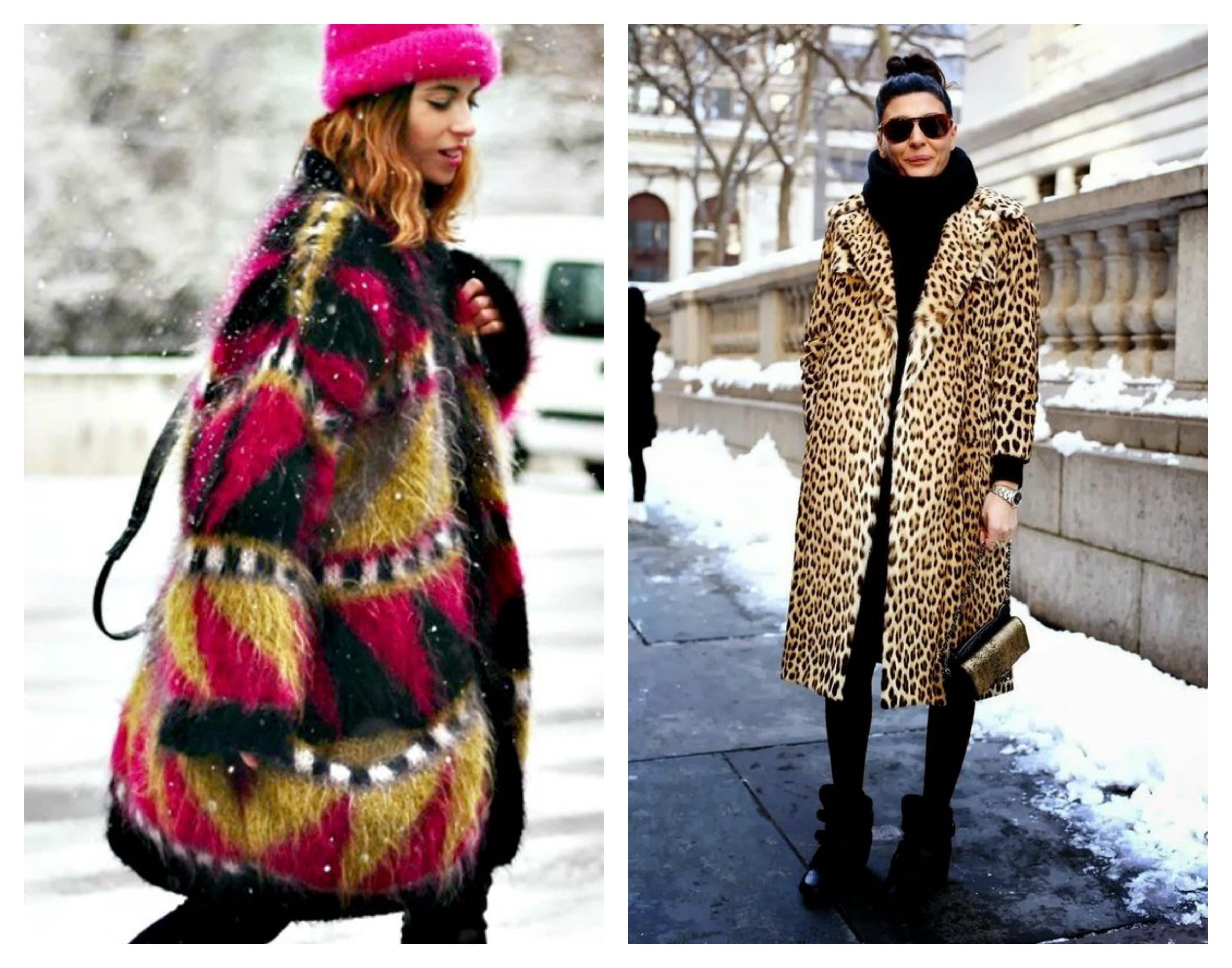 Зимнее женское леопардовое пальто