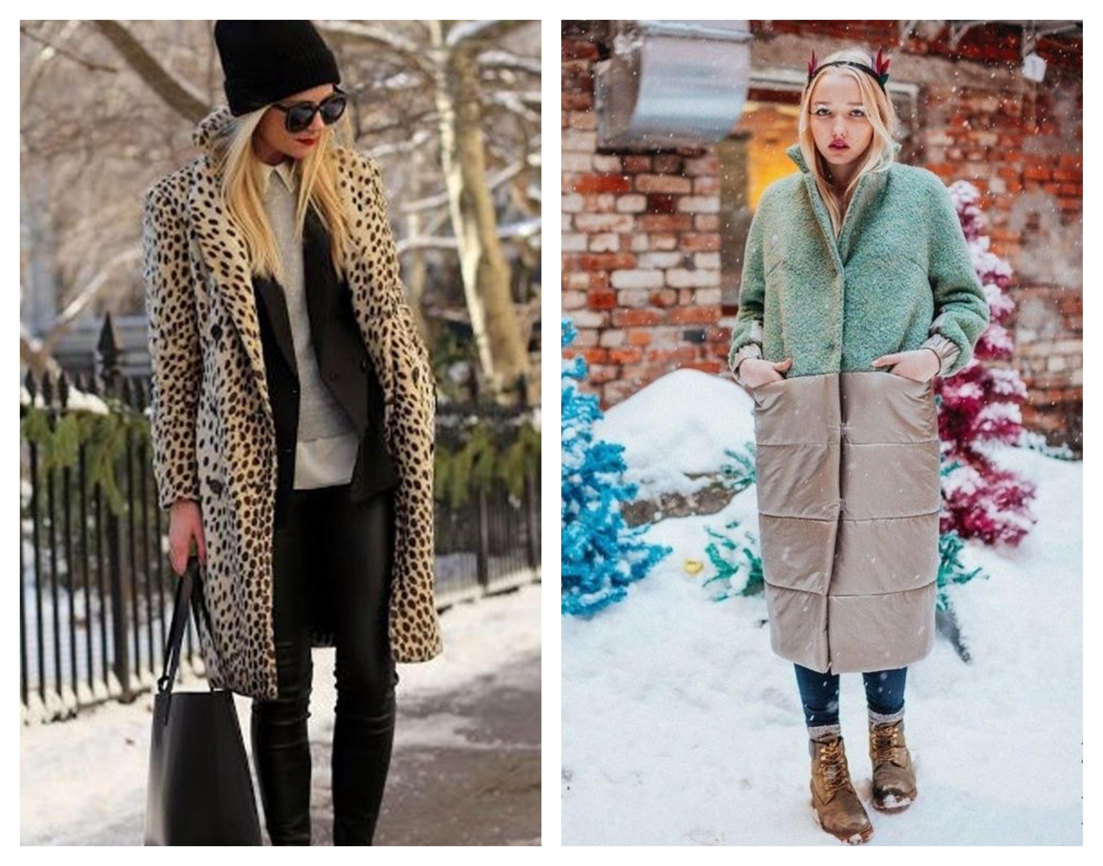 Модное зимнее женское пальто