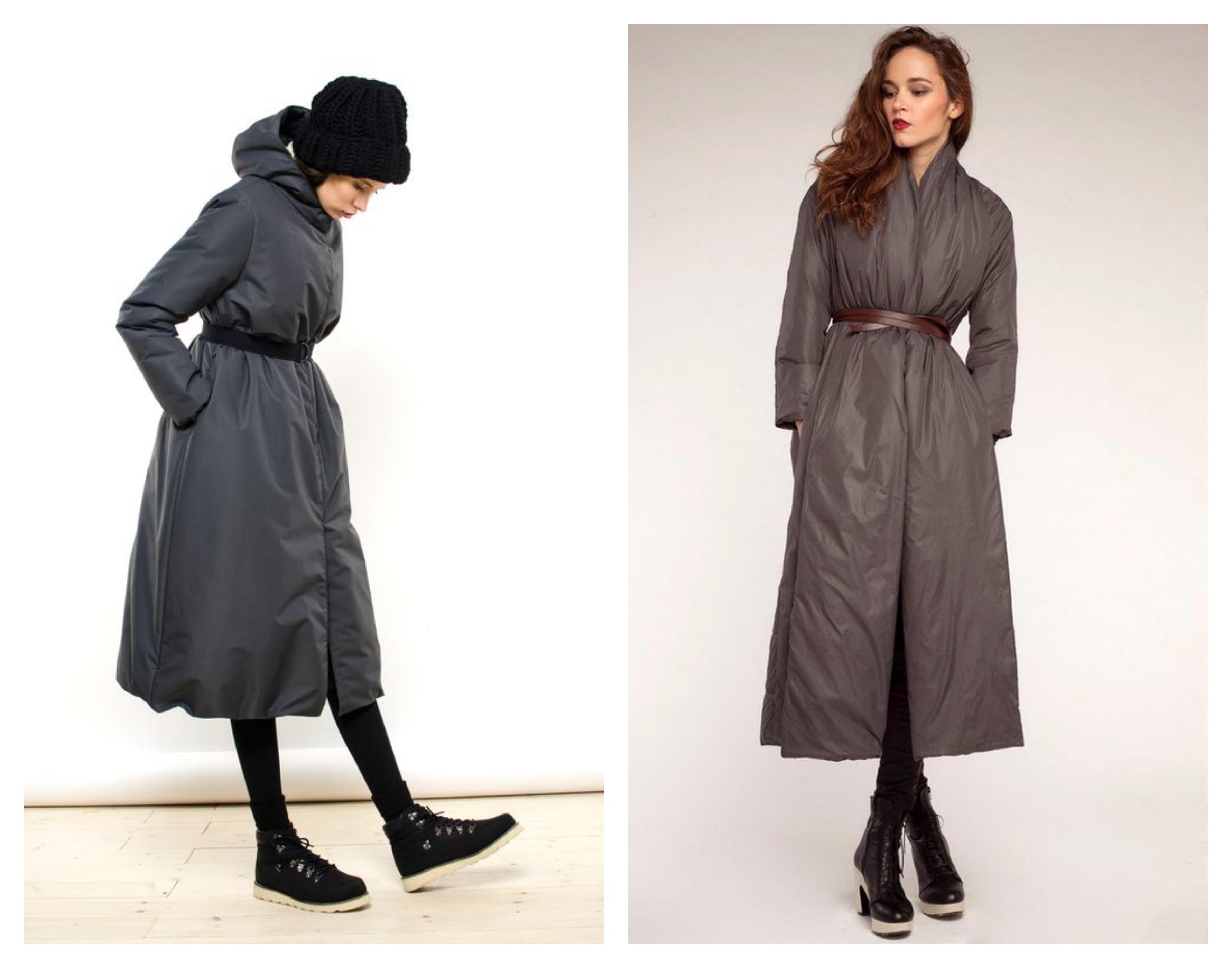 Зимнее женское пальто на синтепоне