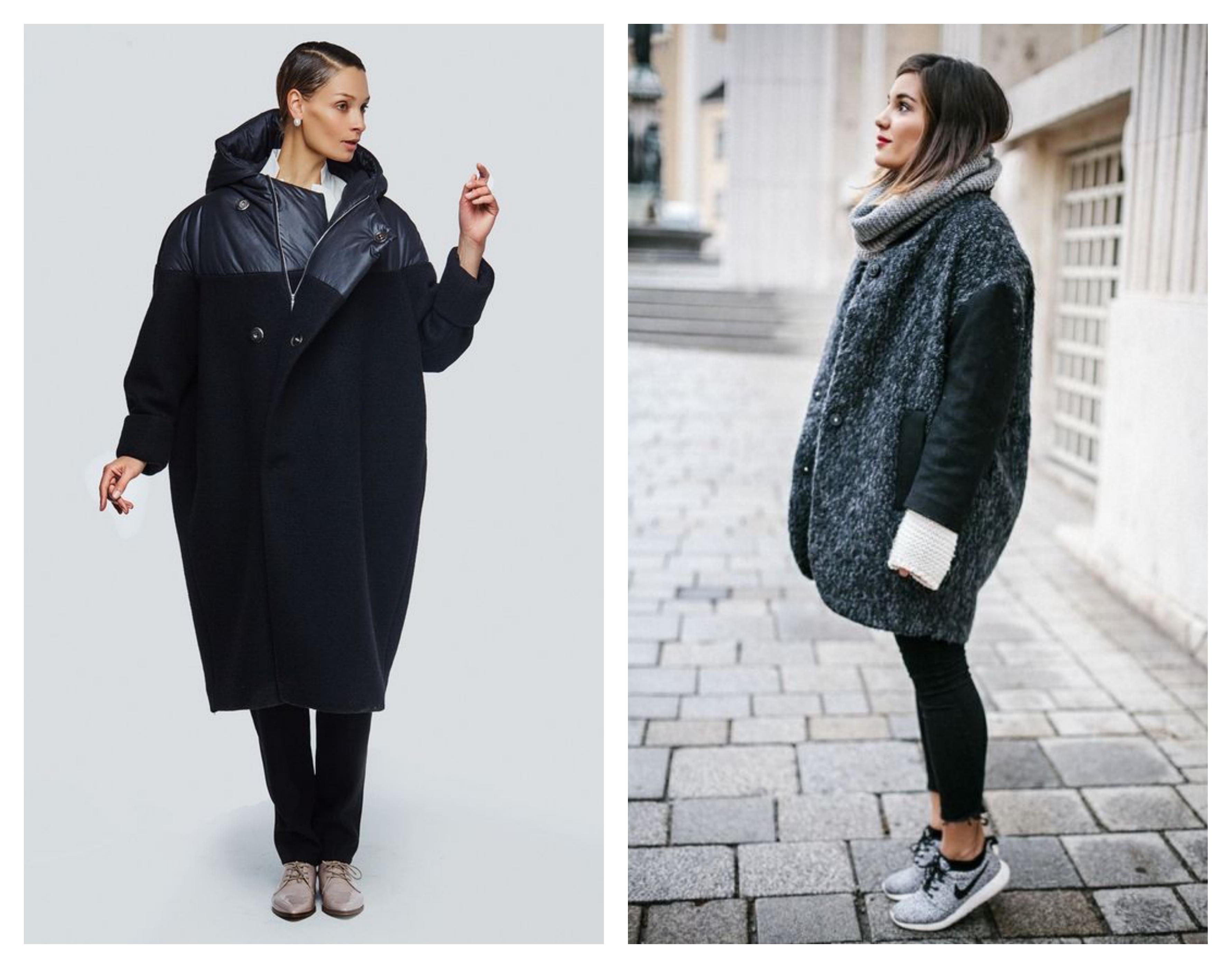 Зимнее женское пальто оверсайз