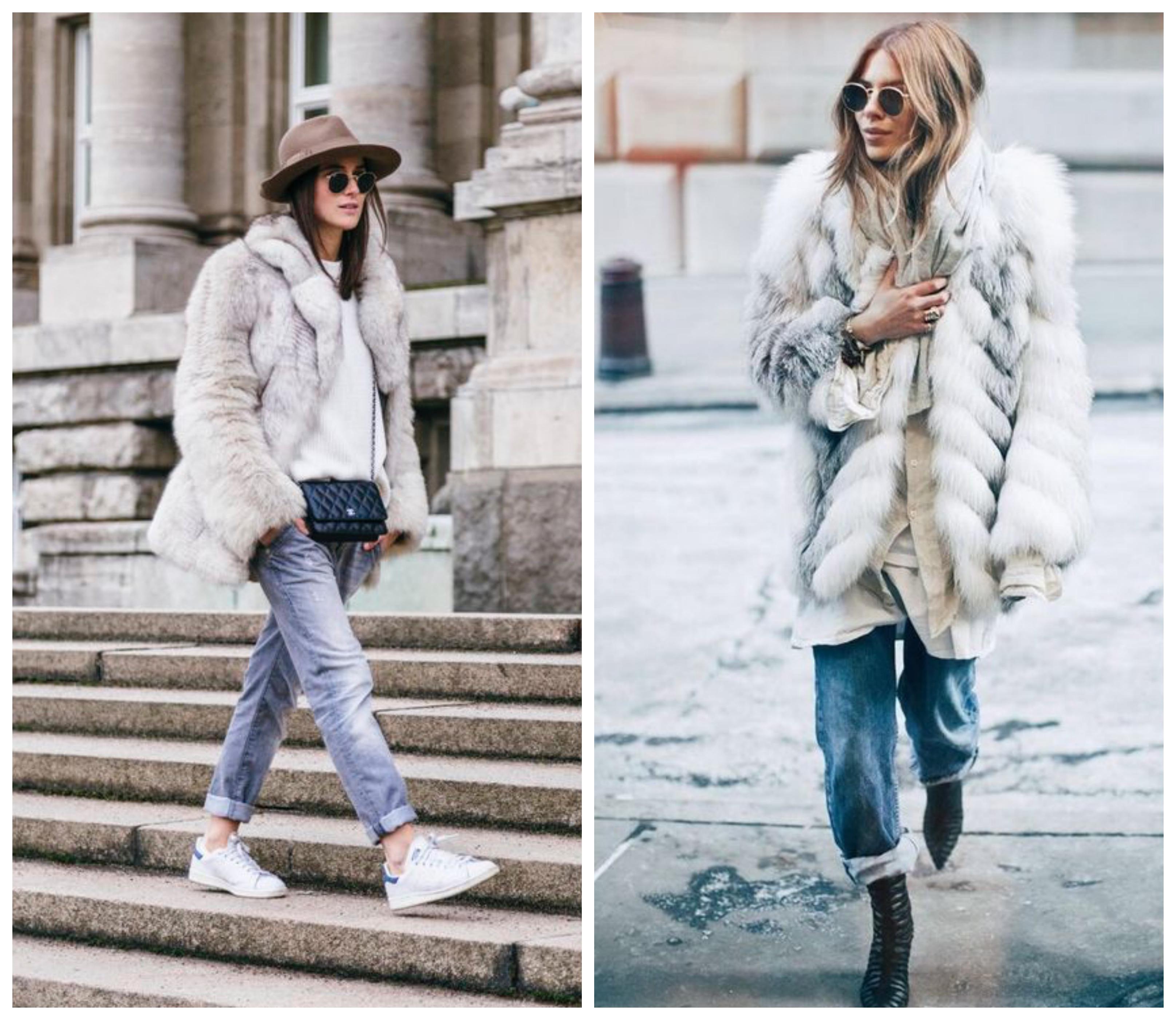 Джинсы бойфренды - с чем носить зимой?