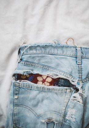 Как сделать дырки на джинсах