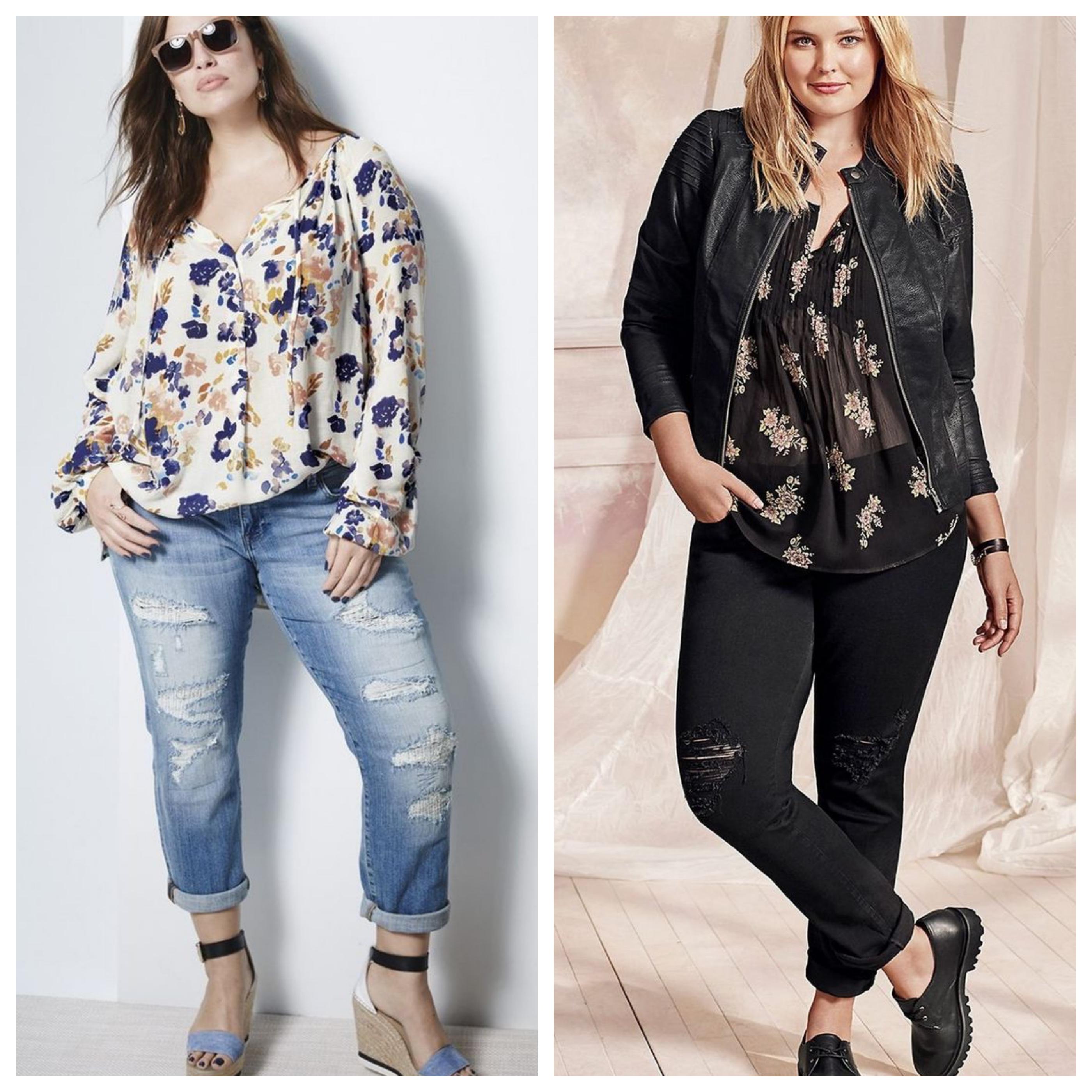 Джинсы для полных женщин - модные образы