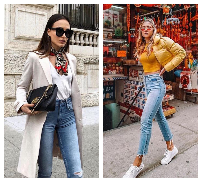 Джинсы с высокой талией - с чем носить?