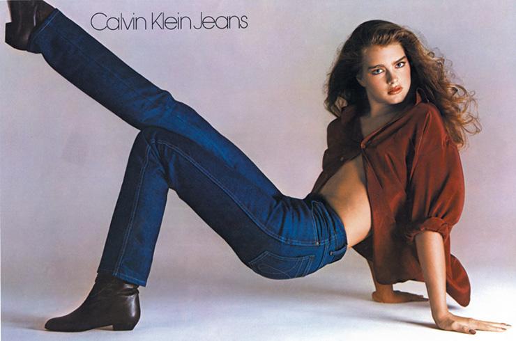 Брук Шилдс в рекламе Calvin Klein