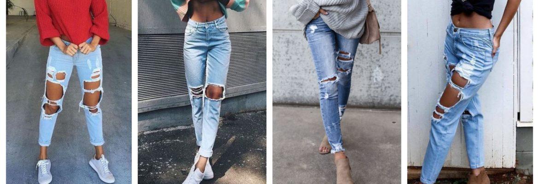 Как на джинсах сделать дырки