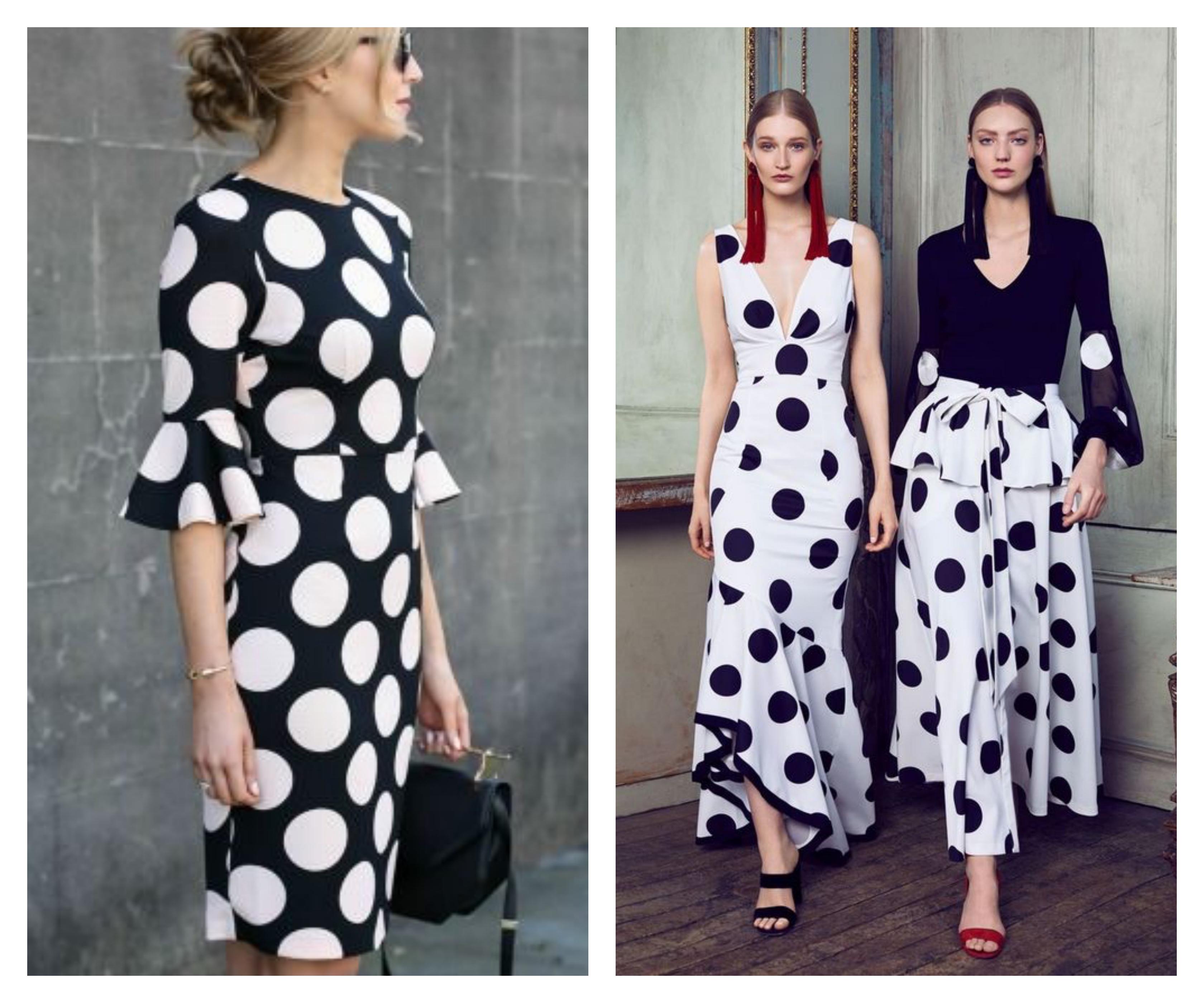 Платье в горошек черное-белое