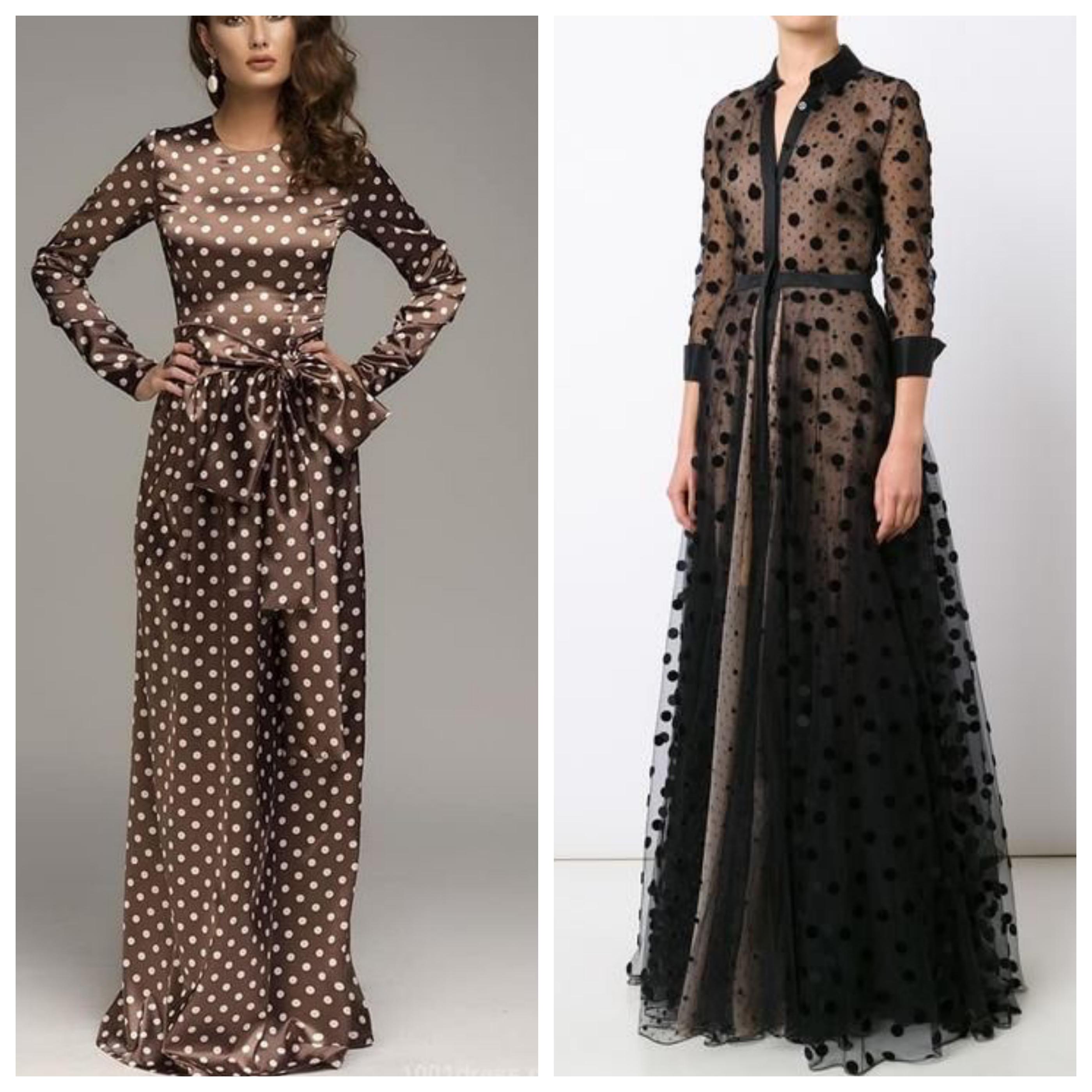 Вечернее платье в горох