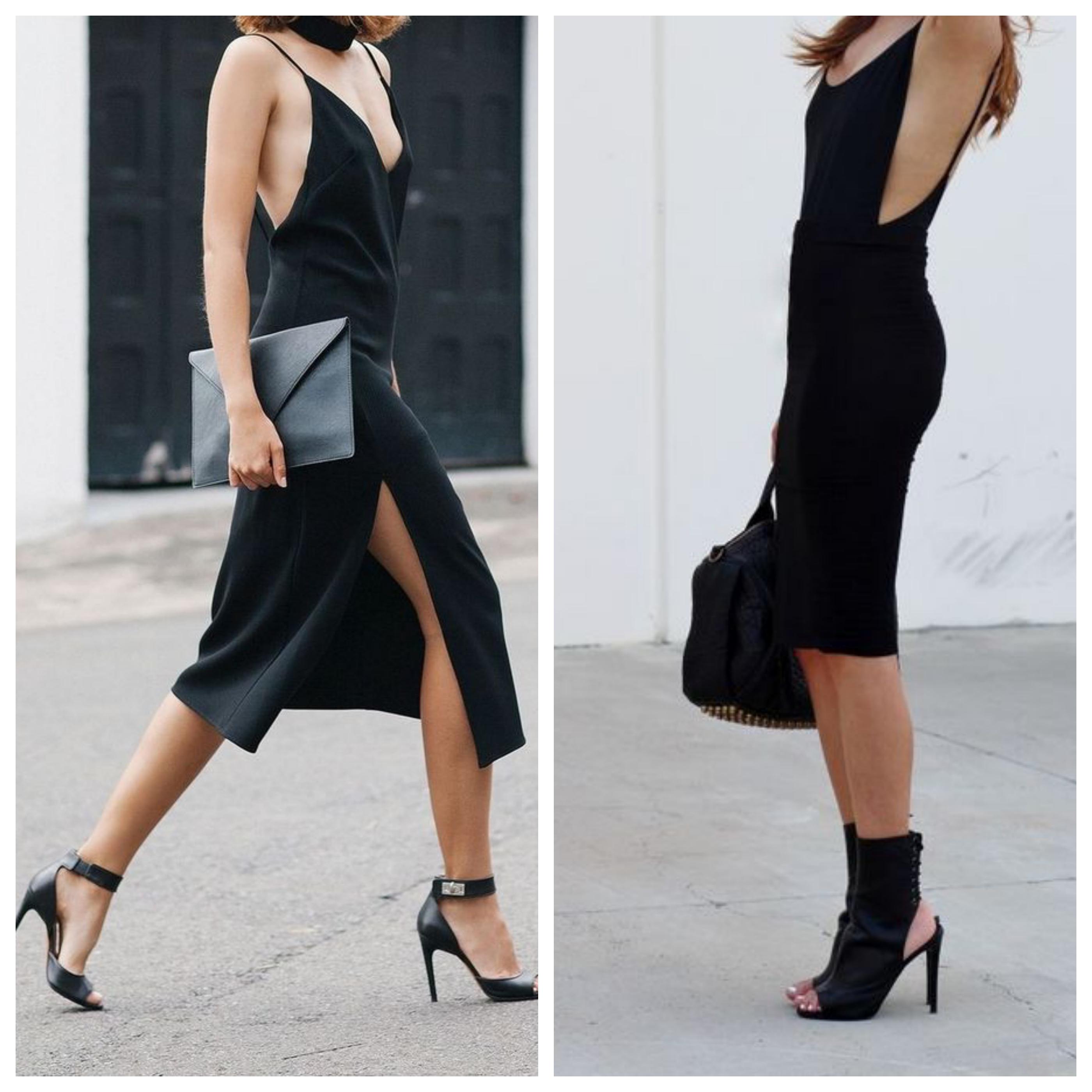 Черное платье и шпилька