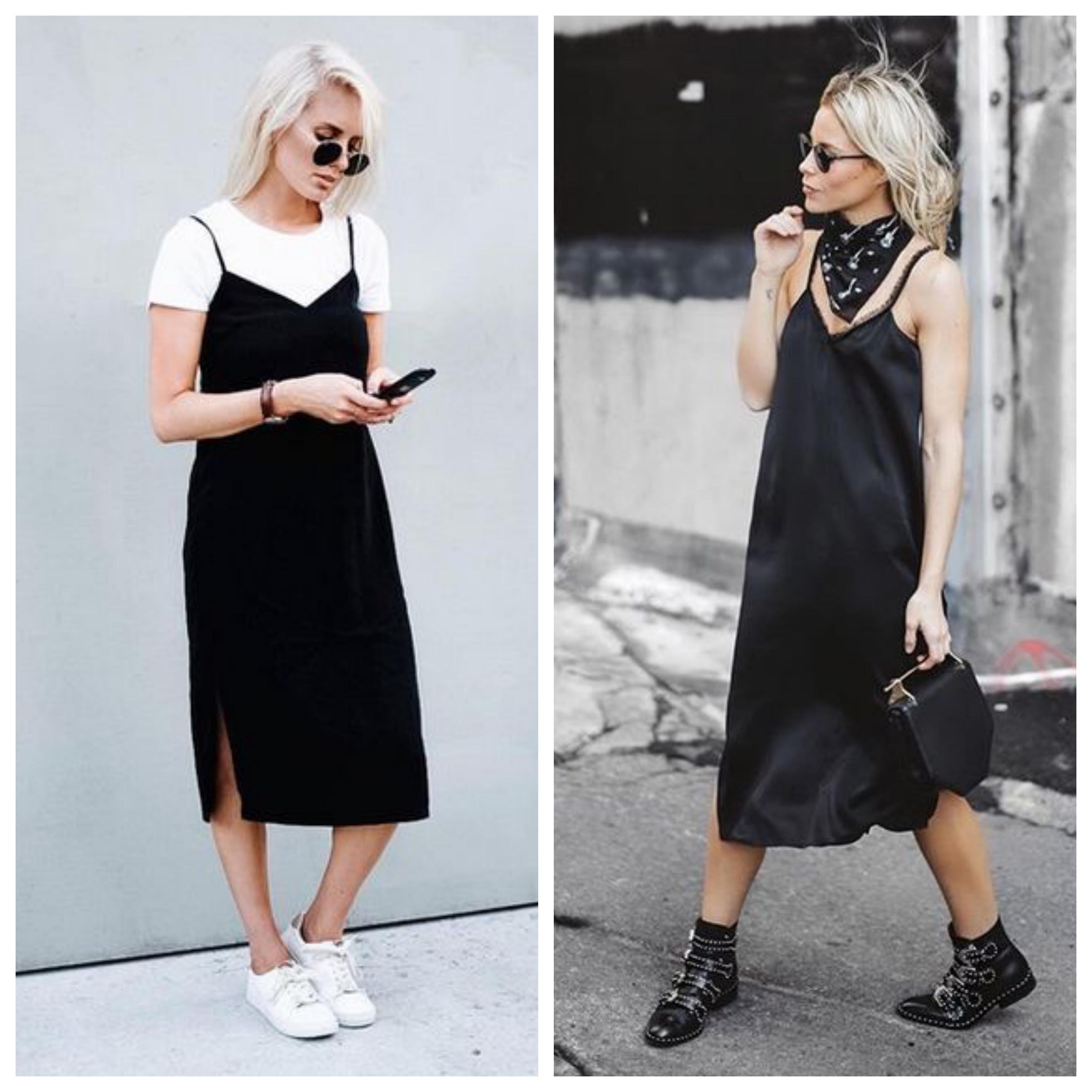 Что обуть под черное платье
