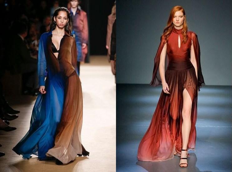 вечернее платье двух цветов