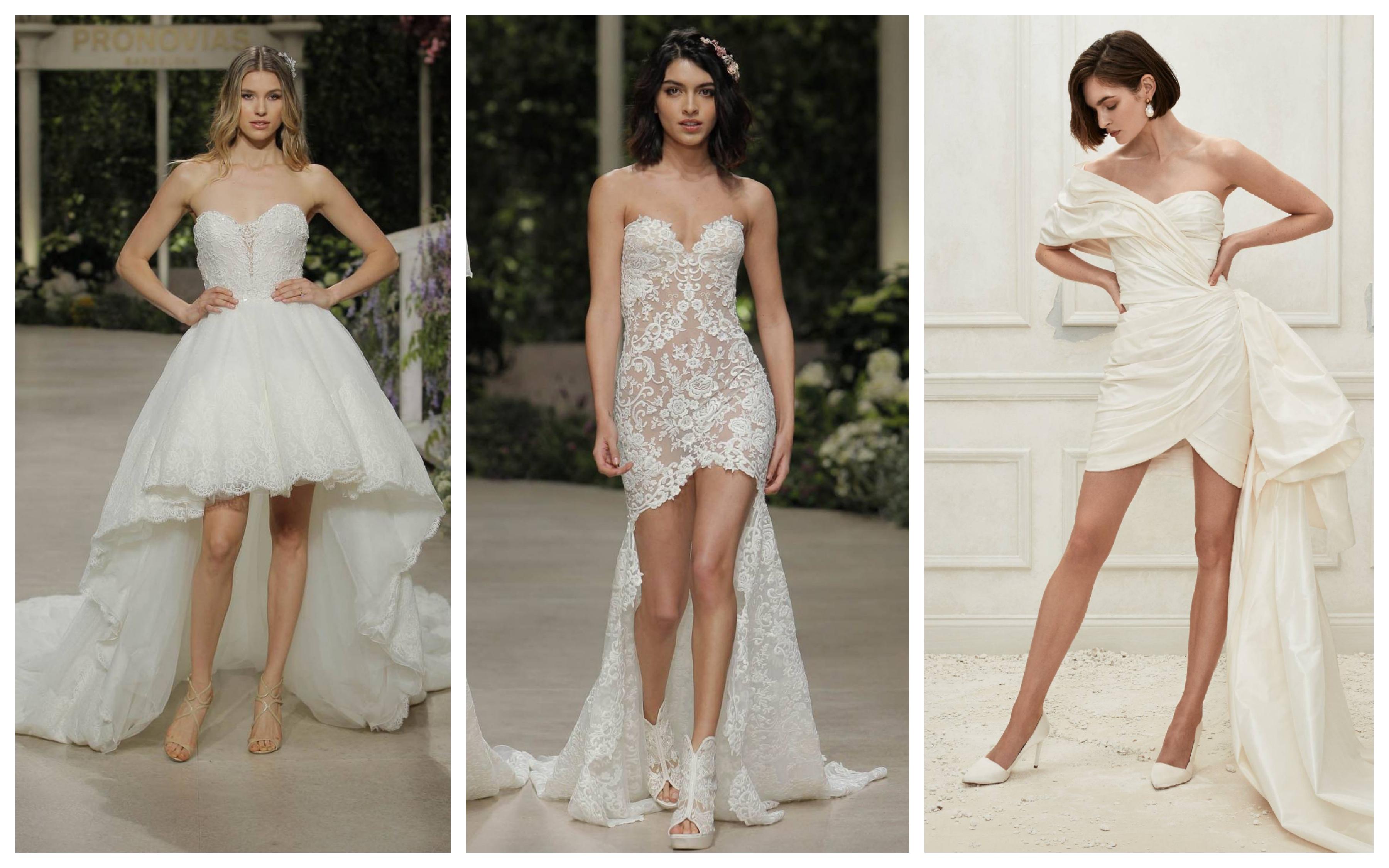 Свадебное платье с короткой юбкой 2019