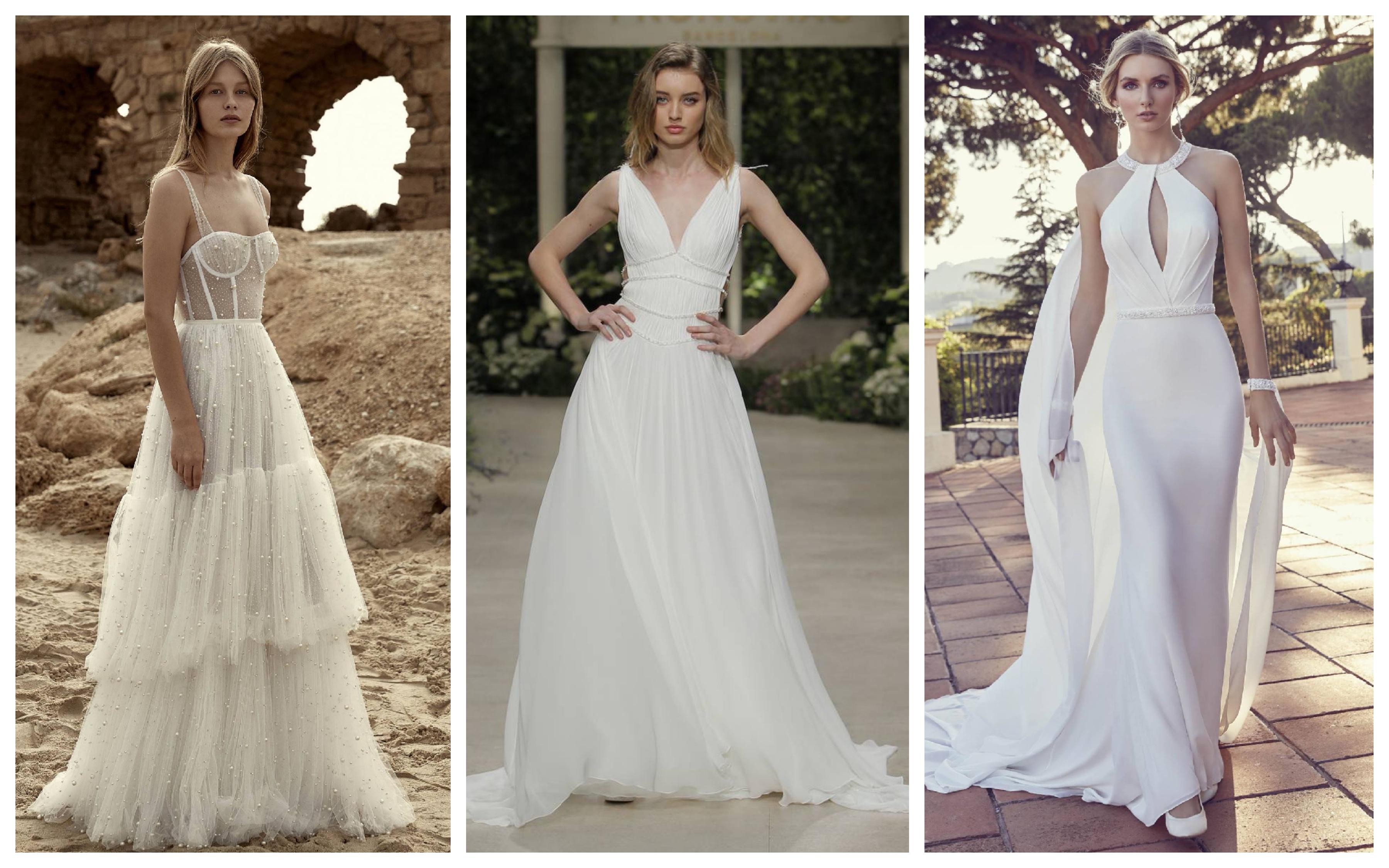 Пляжное свадебное платье 2019