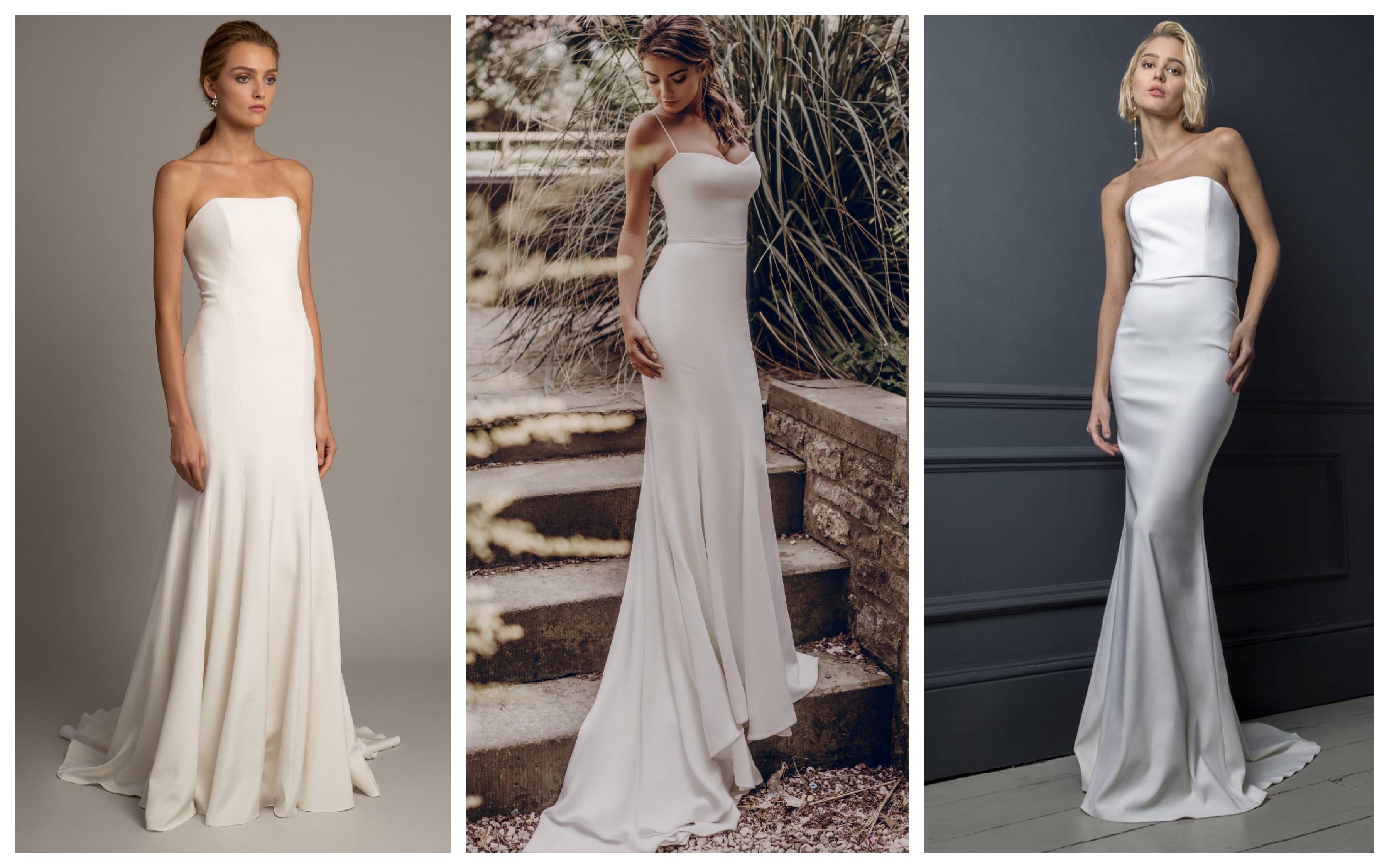 Простое свадебное платье в пол 2019