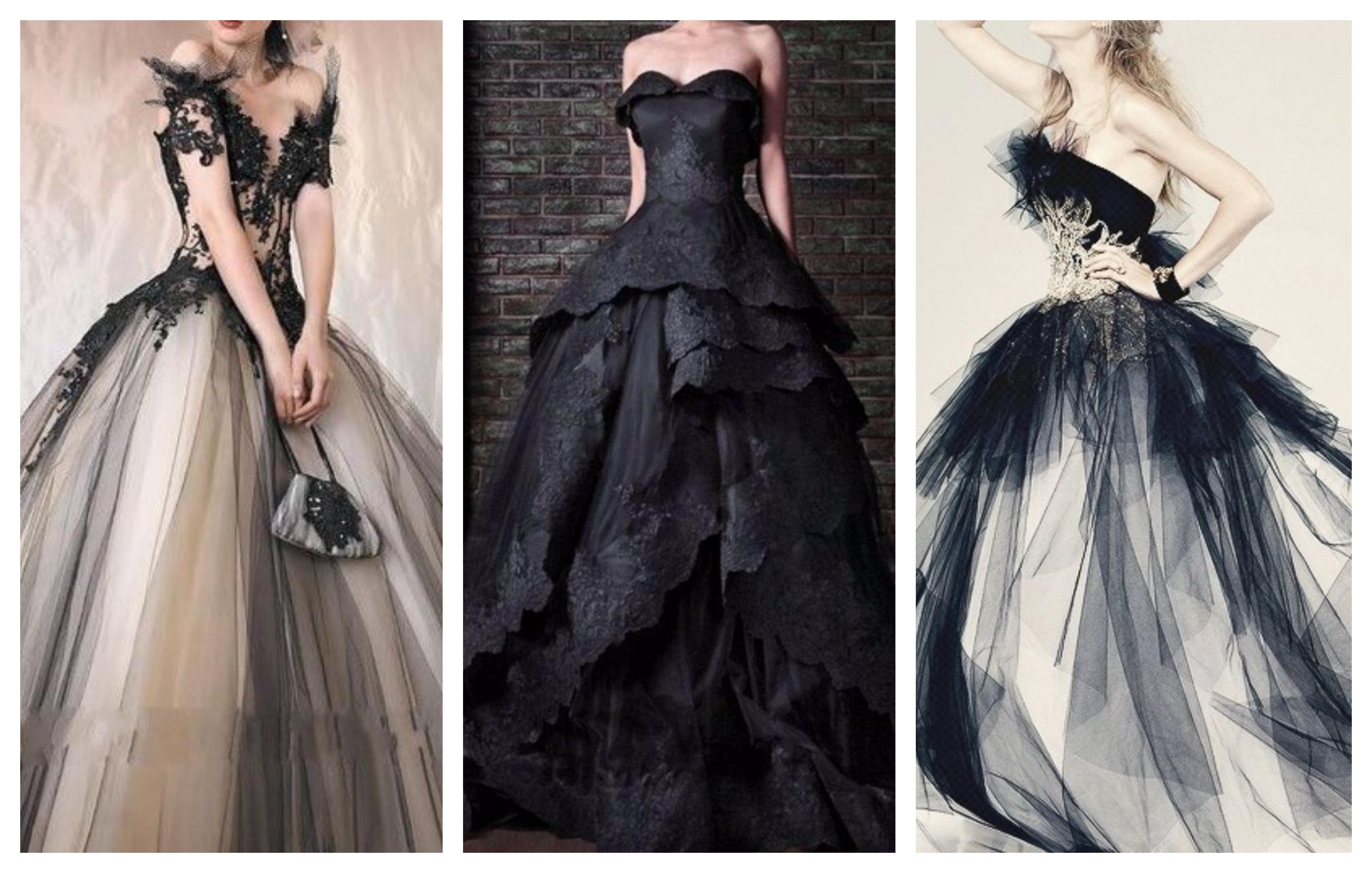 Черное свадебное платье 2019