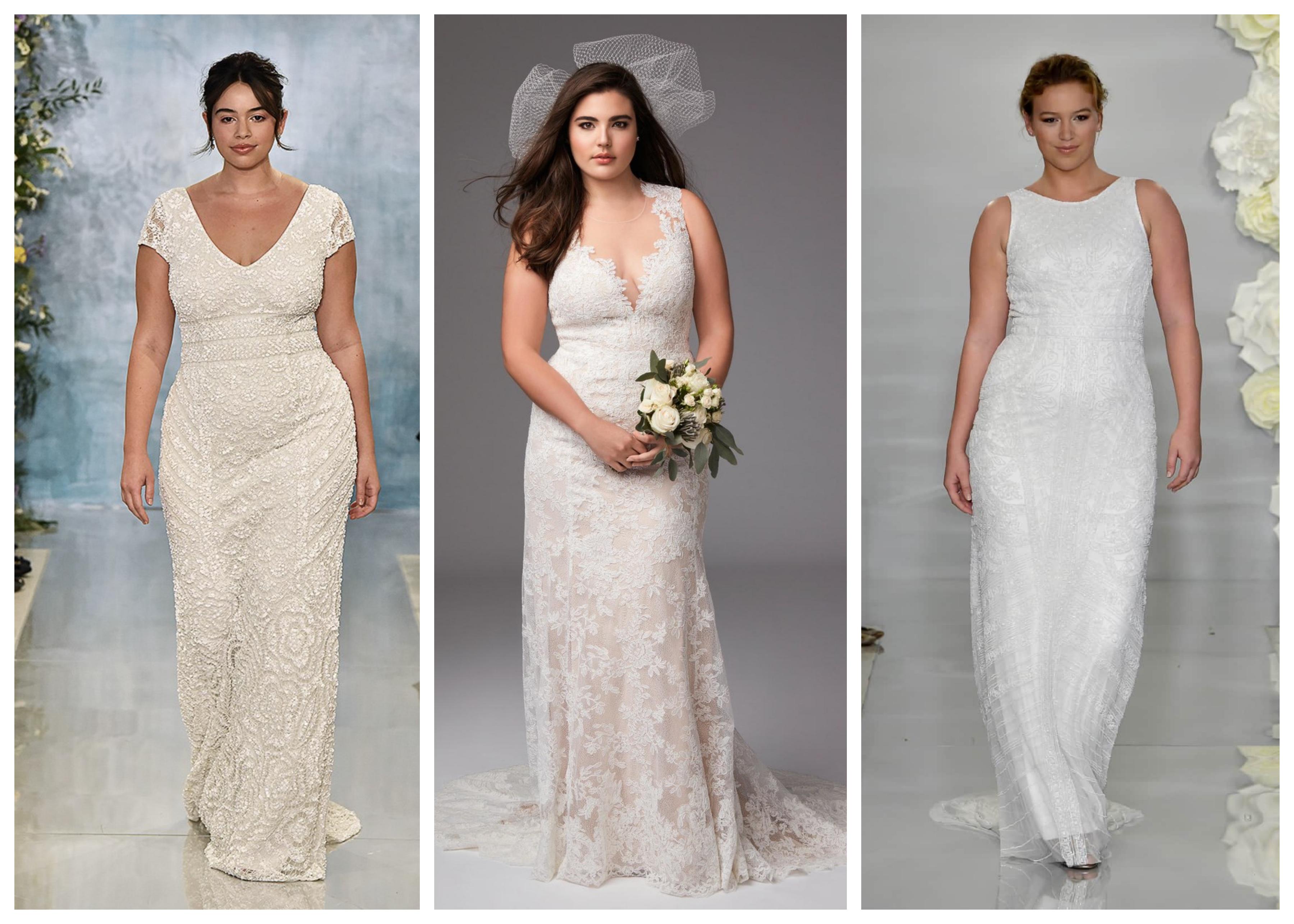 Свадебное платье для полных 2019