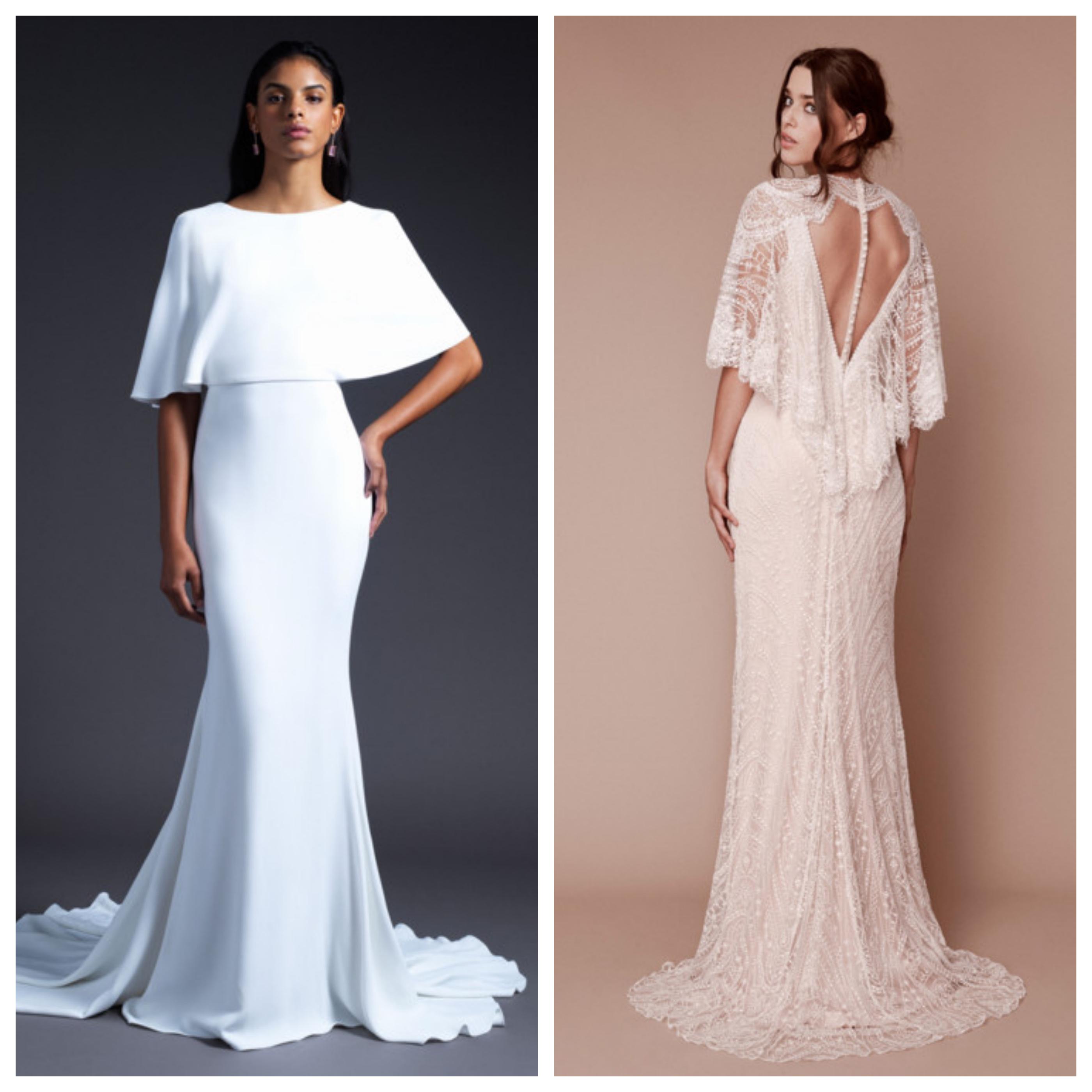 Свадебное платье с кейпом 2019