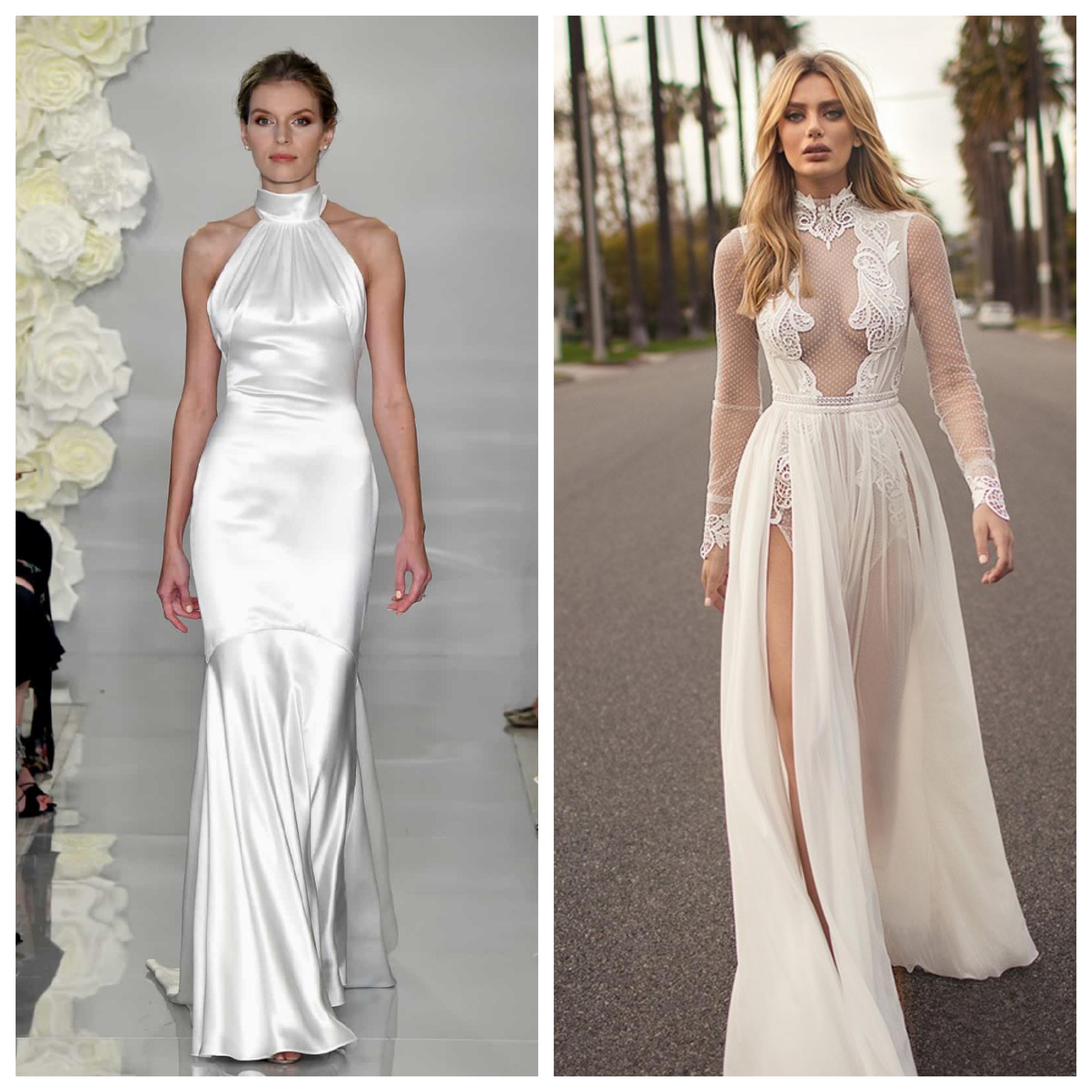 Свадебное платье с закрытым горлом