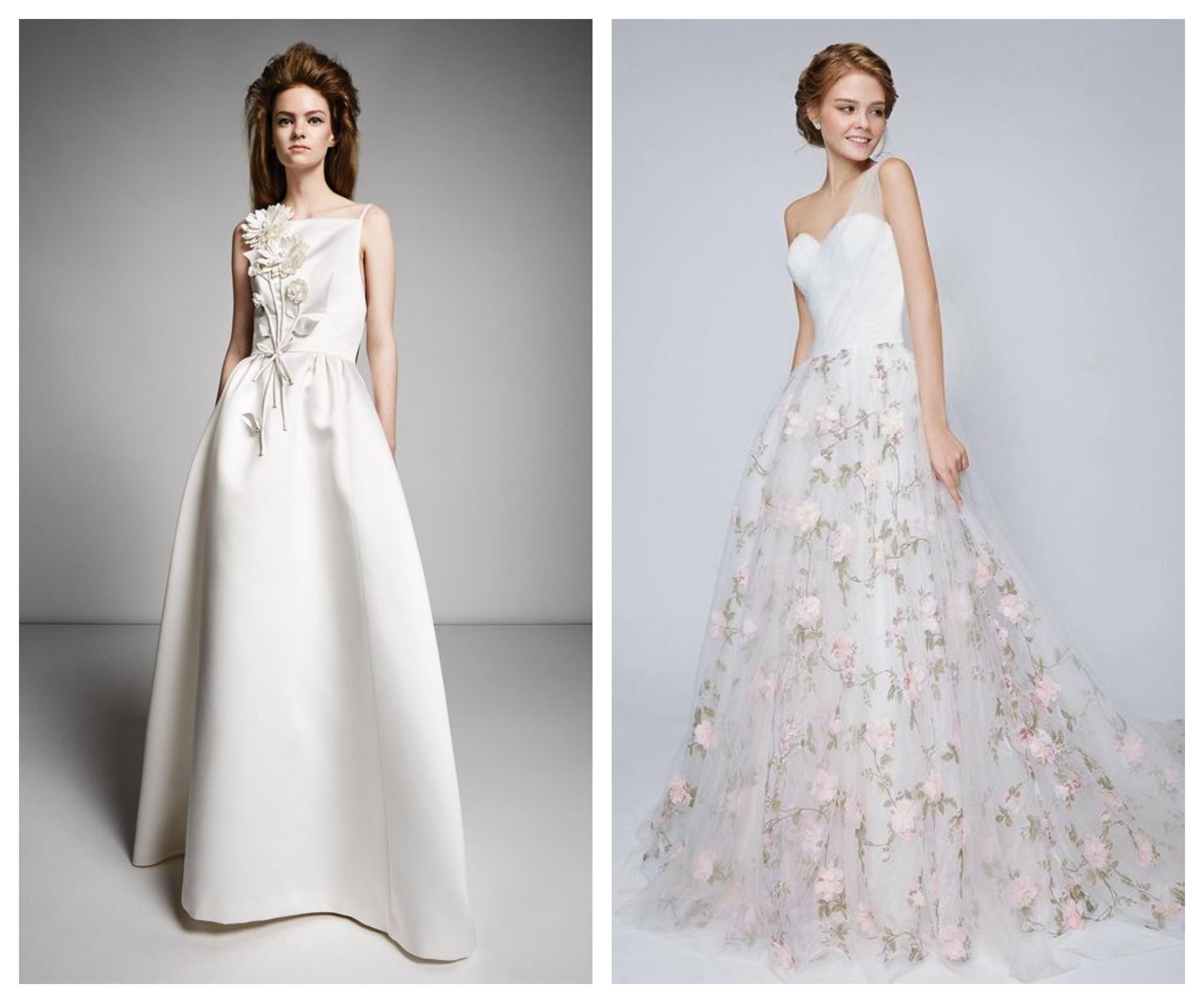Свадебное платье 2019 - цветочные мотивы
