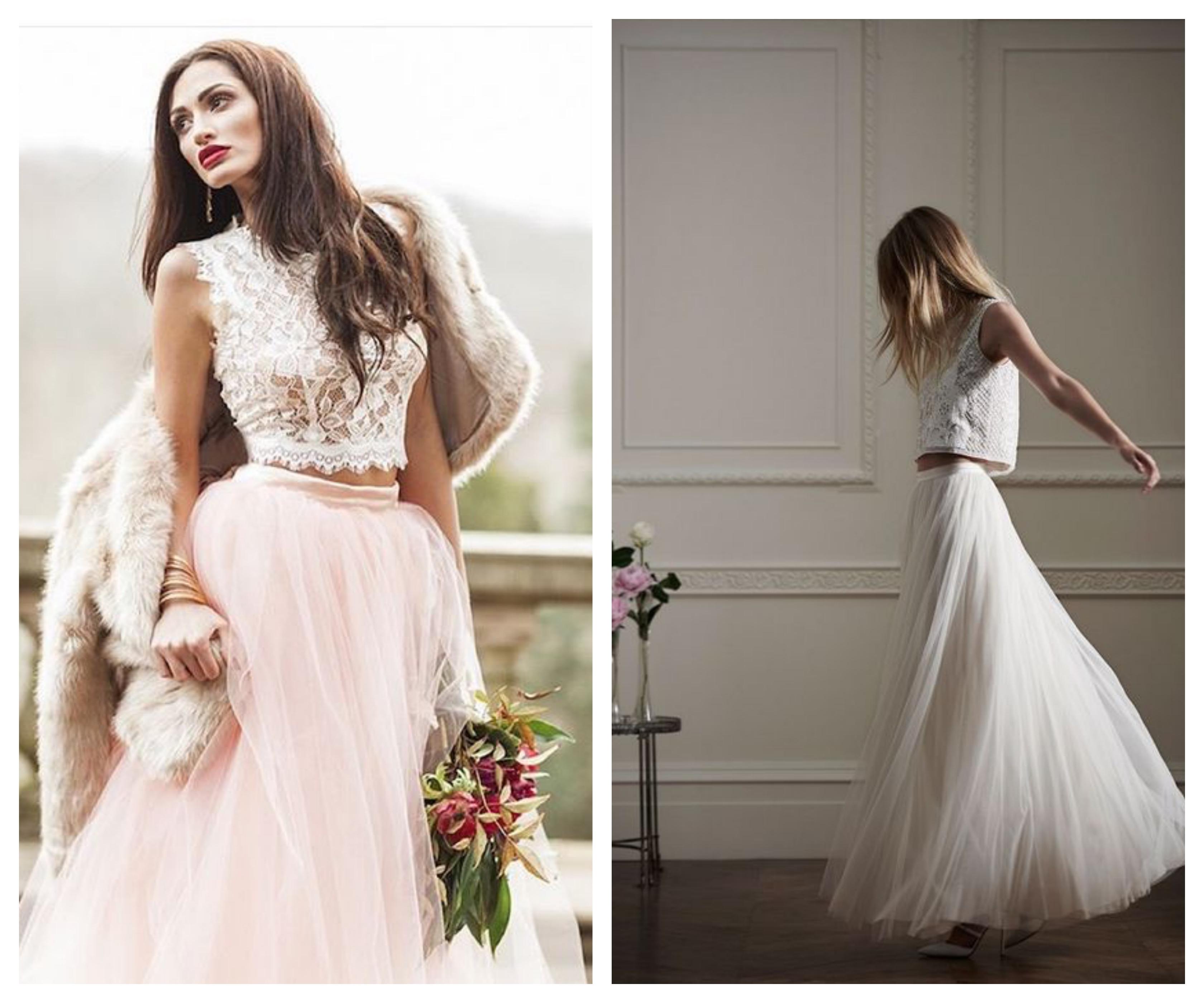 Свадебное платье топ и юбка 2019
