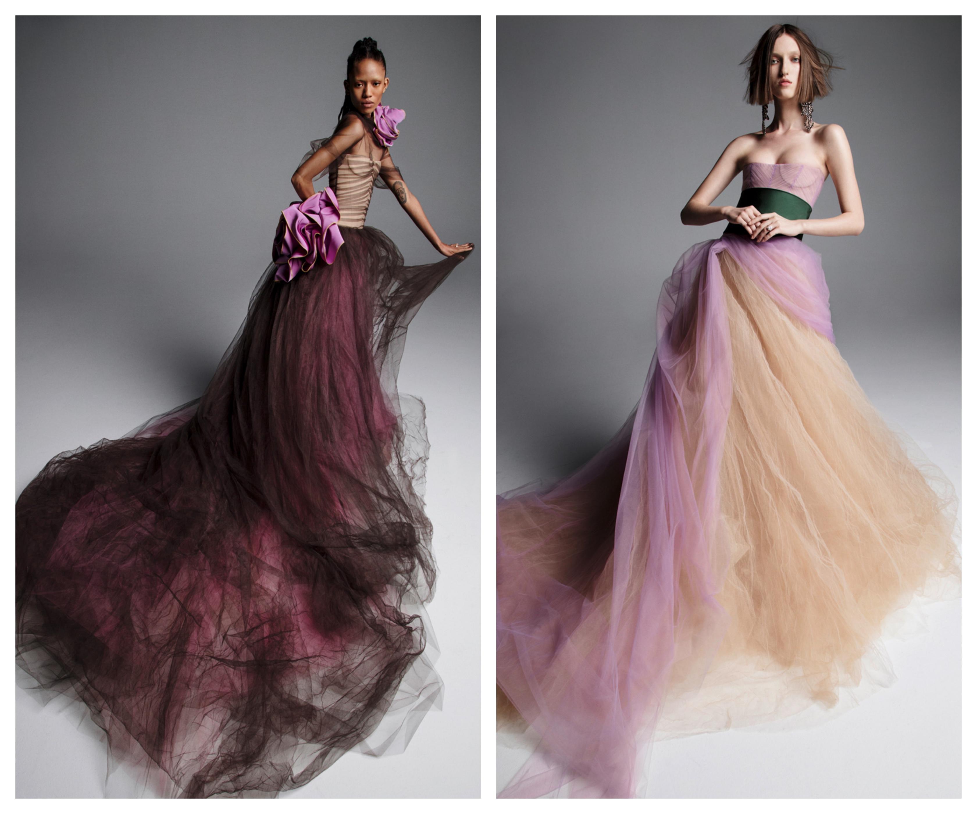 Цвета свадебных платьев 2019