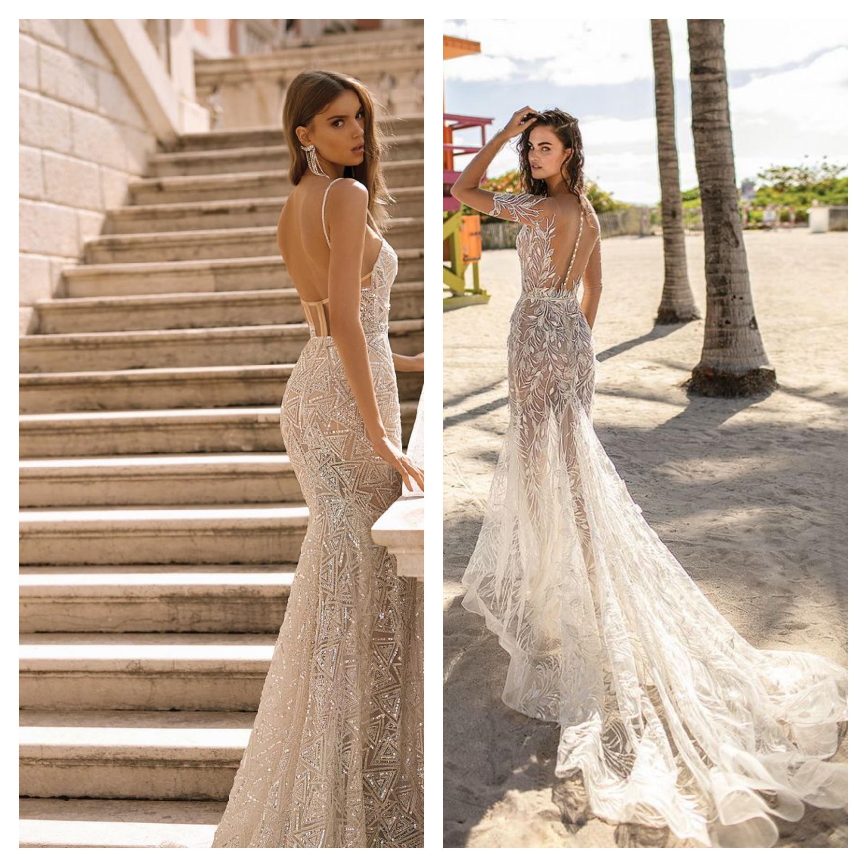 Свадебное платье с открытой спиной 2019