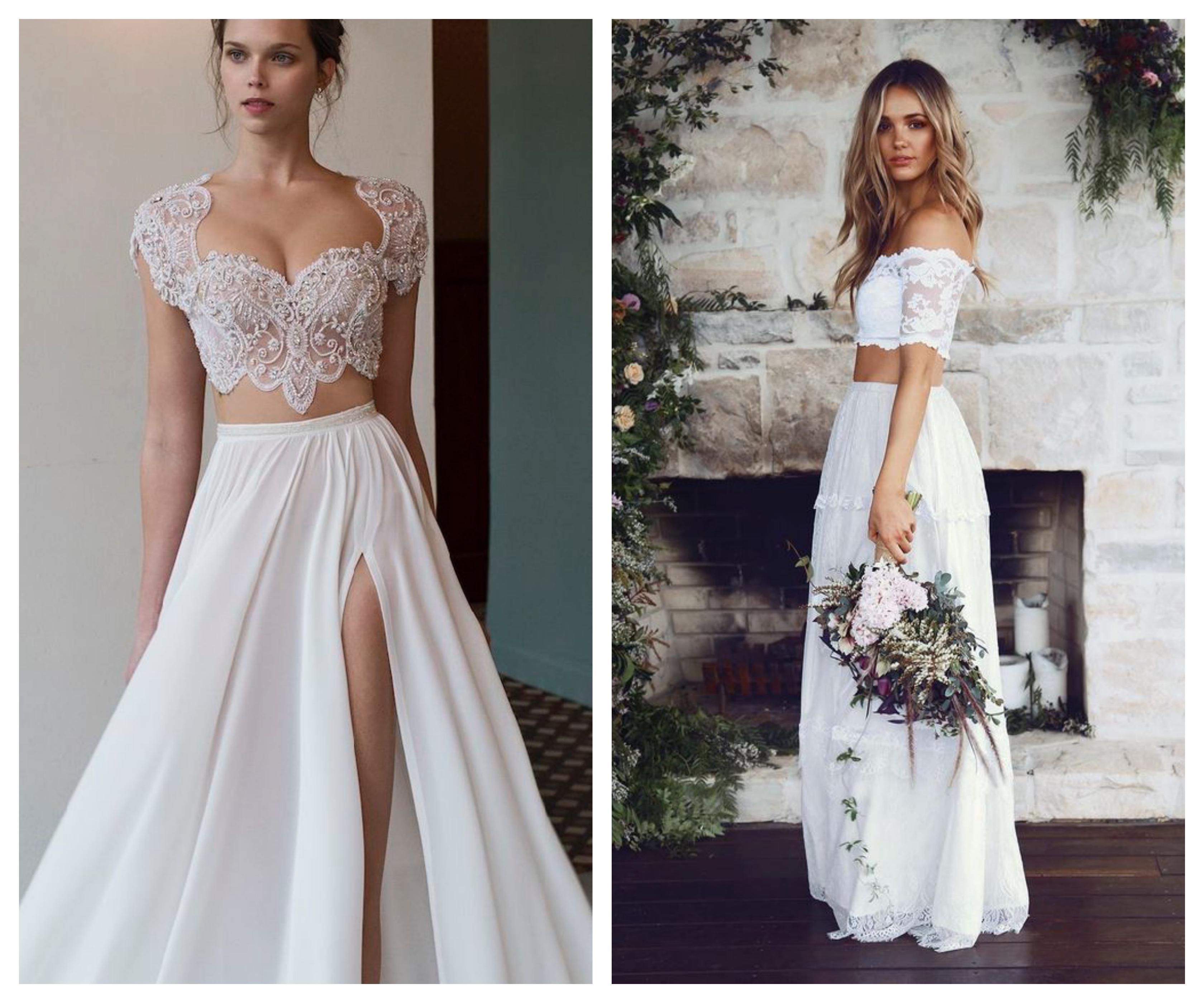 Свадебное платье топ и отдельная юбка 2019