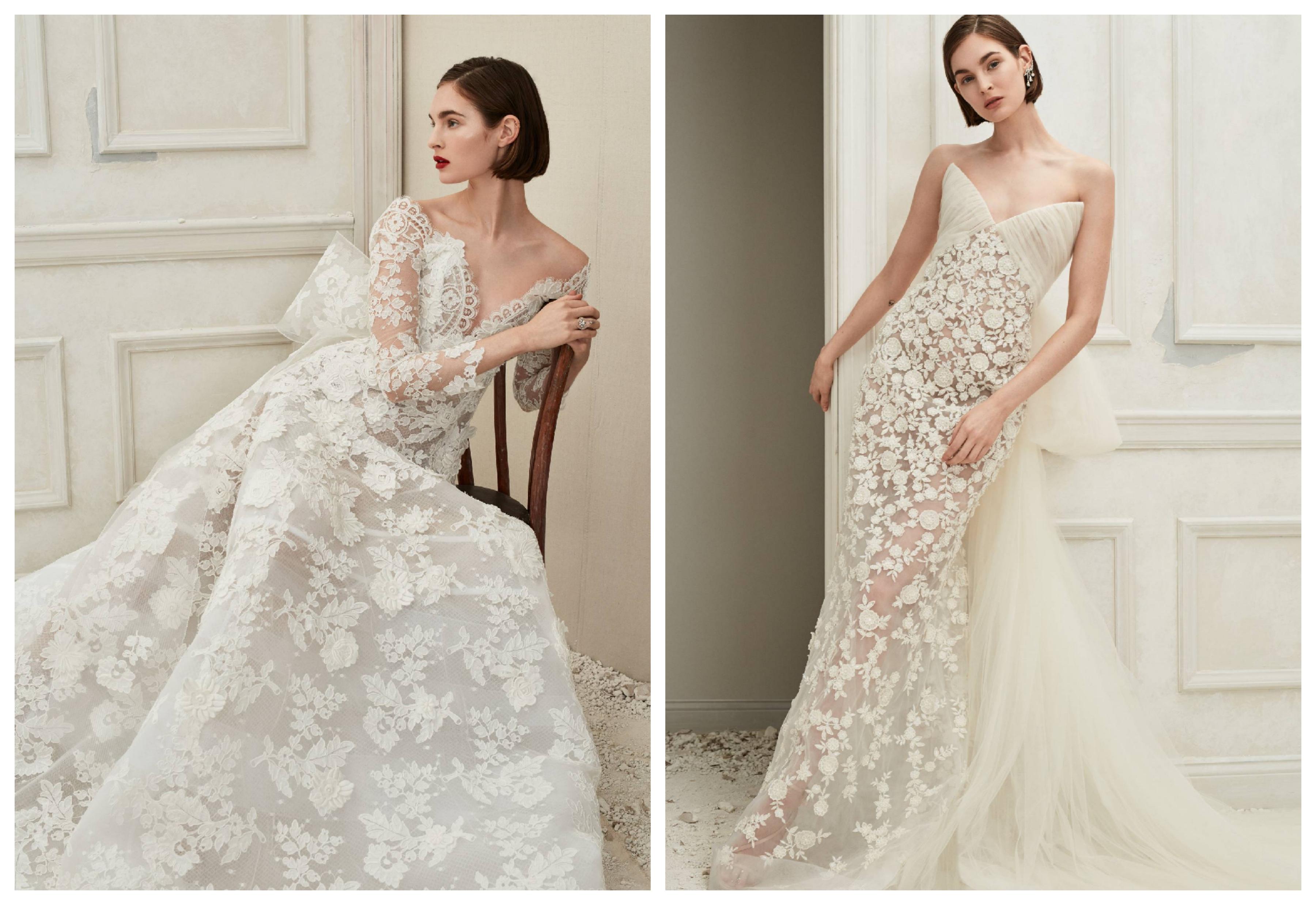 Свадебное платье с кружевом и вышивкой 2019