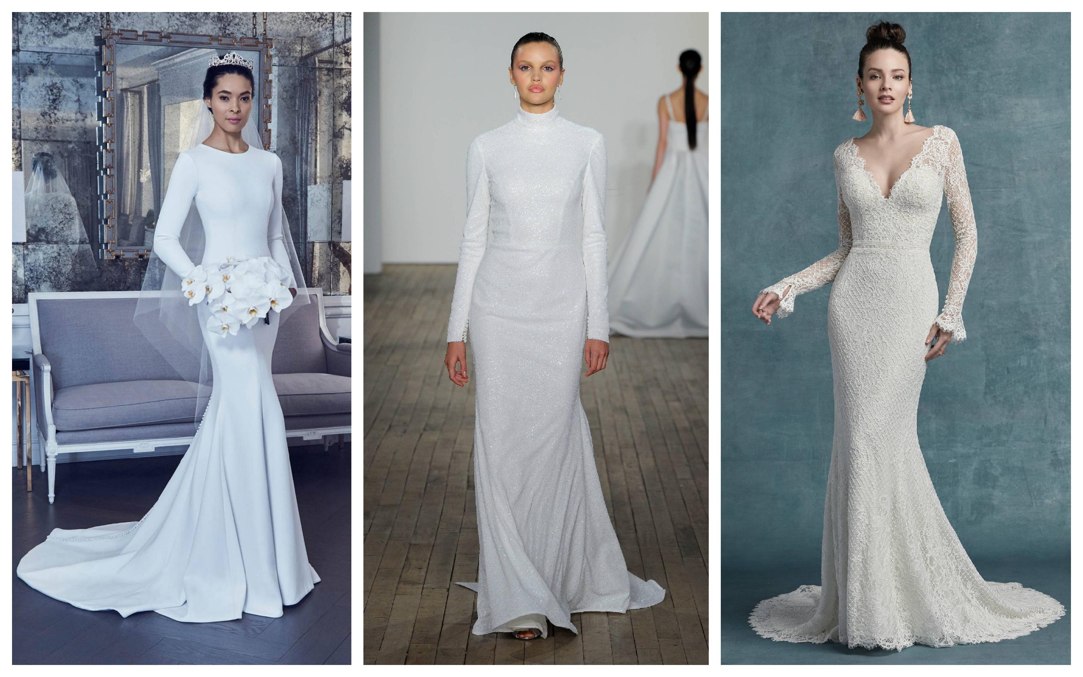 Зимнее свадебное платье 2019