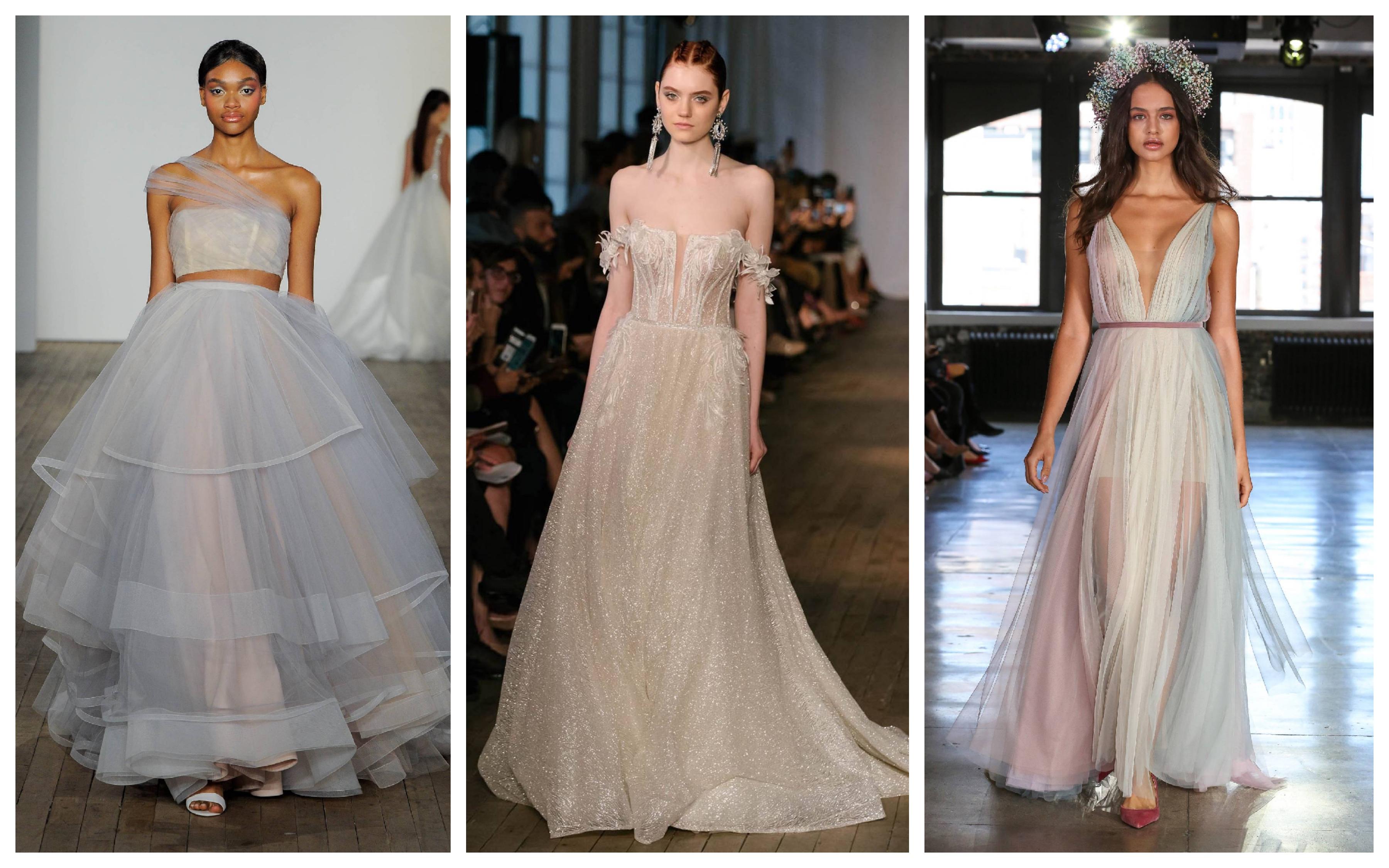 Модные свадебного цвета свадебных платьев 2019