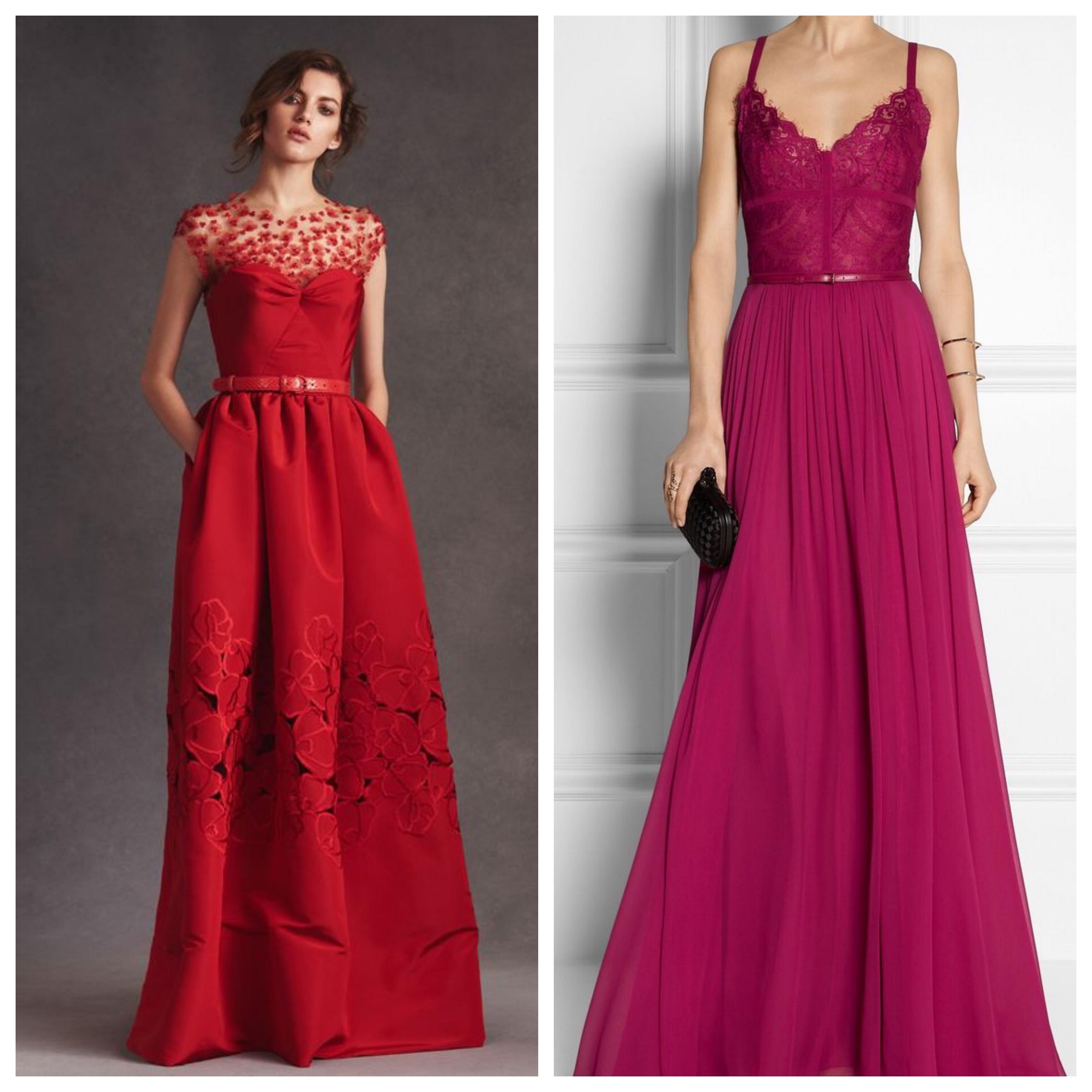 Цвета вечернего платья на выпускной вечер - красный