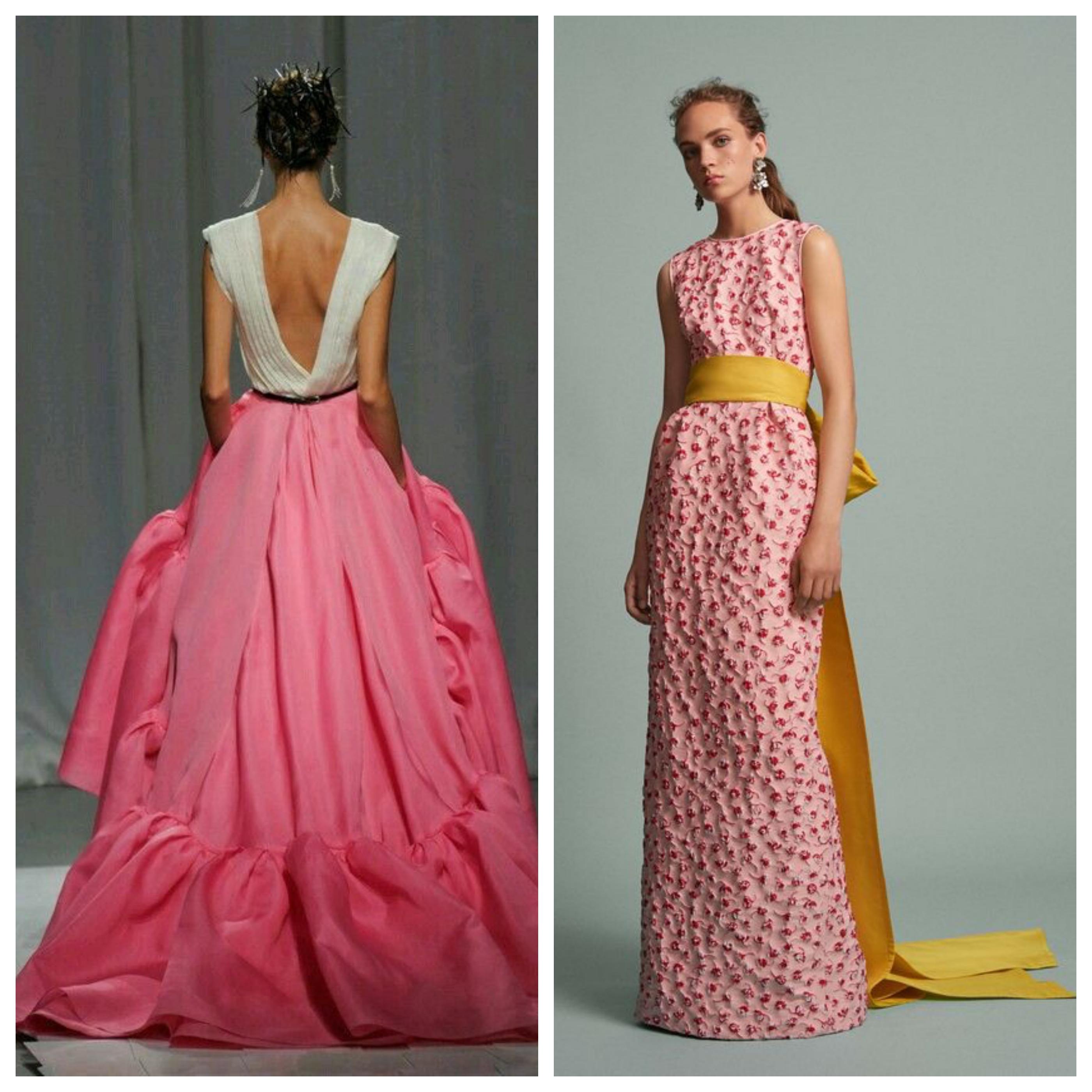 Розовые цвета вечернего платья на выпускной вечер