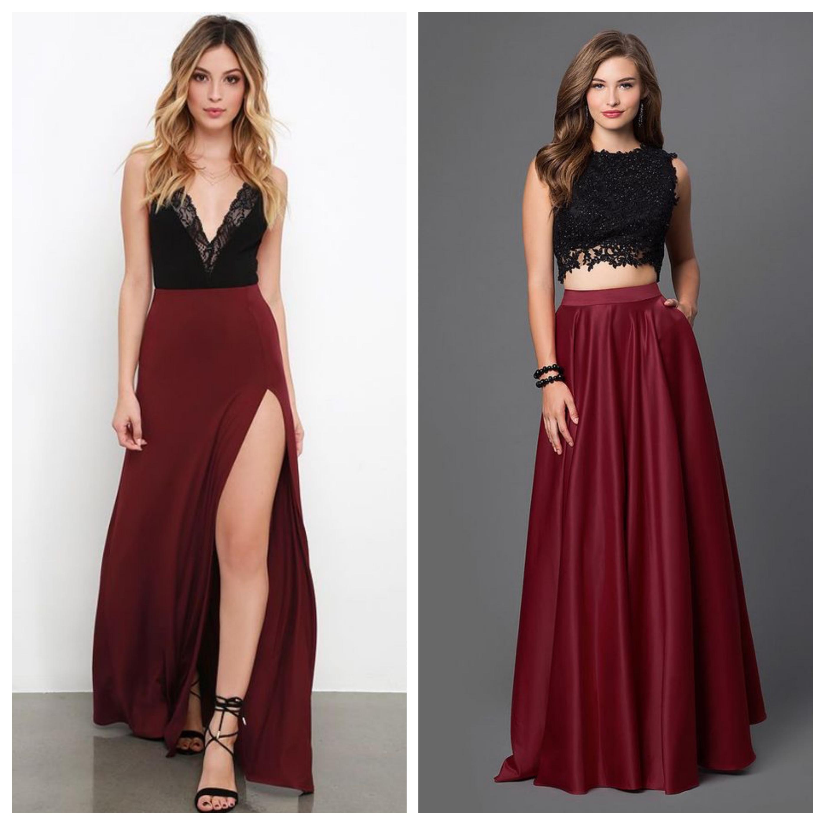 Вечернее платье на выпускной вечер - юбка и топ