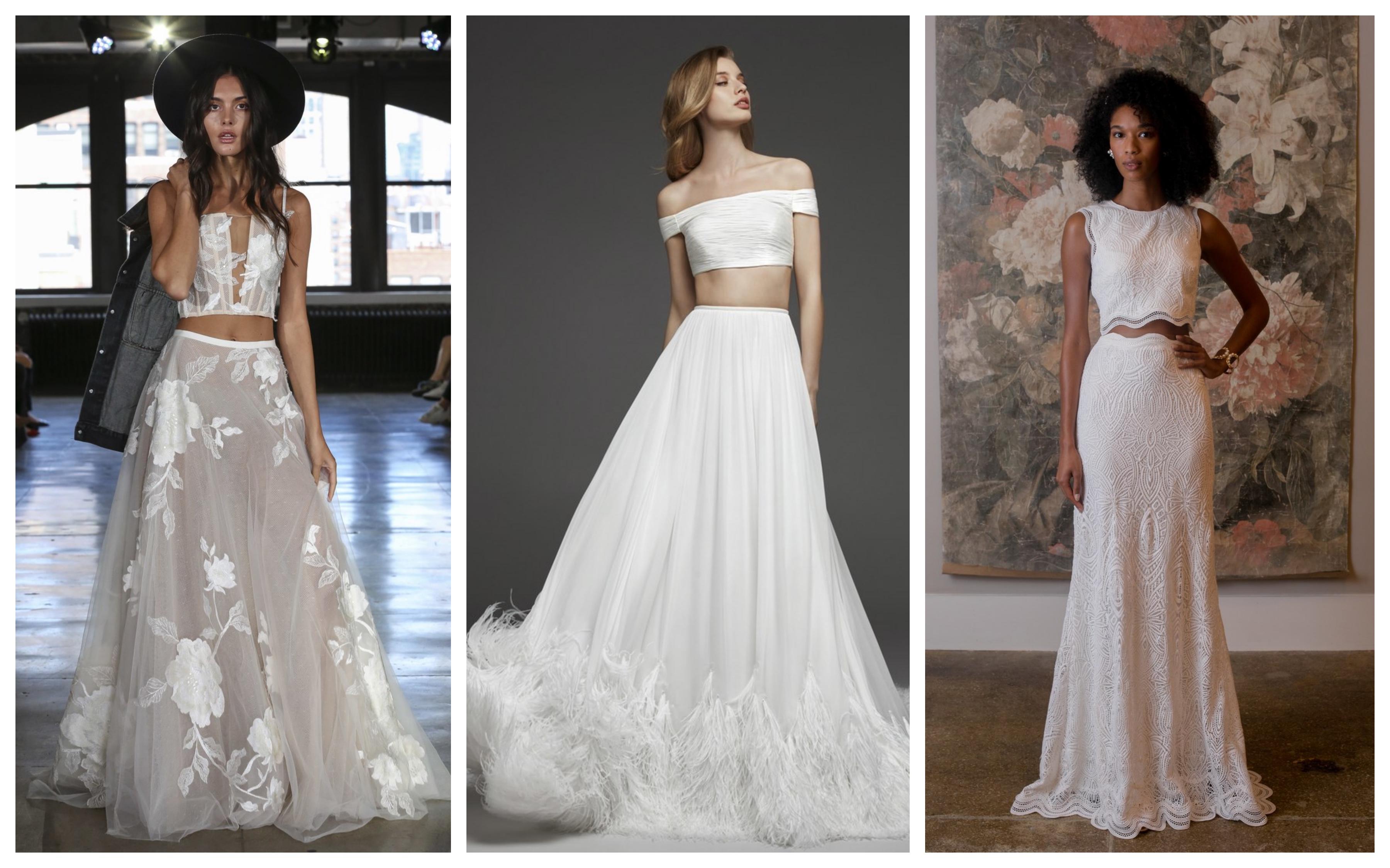 Свадебное платье топ и пышная юбка 2019
