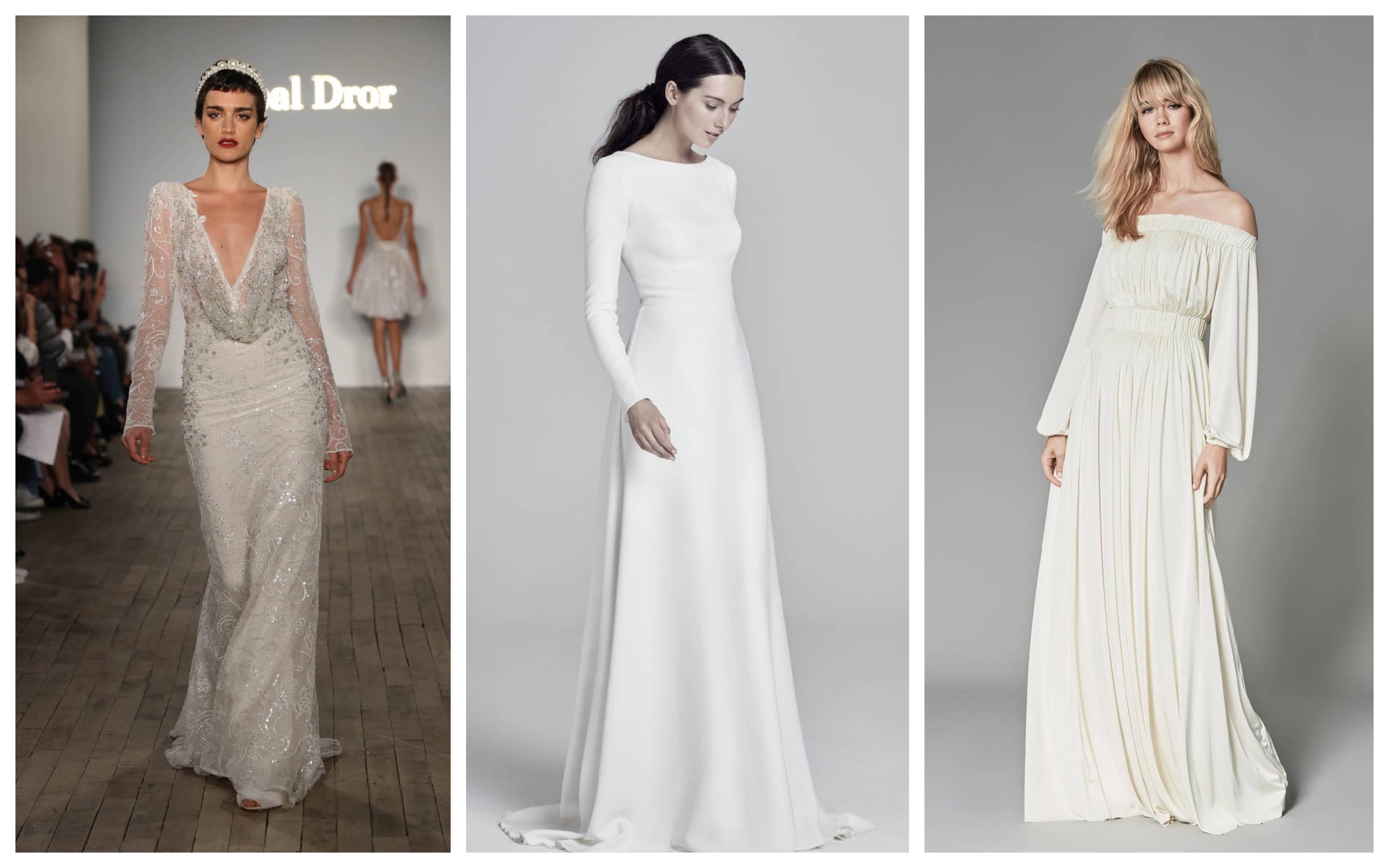 Свадебное платье с рукавами 2019