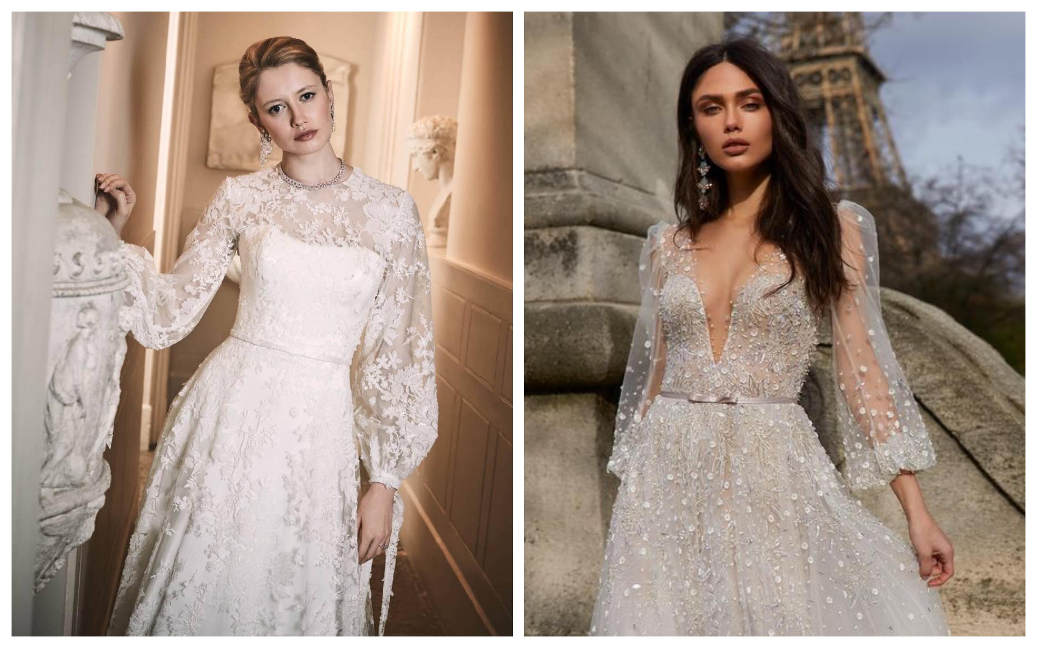 Свадебное платье с широкими рукавами 2019