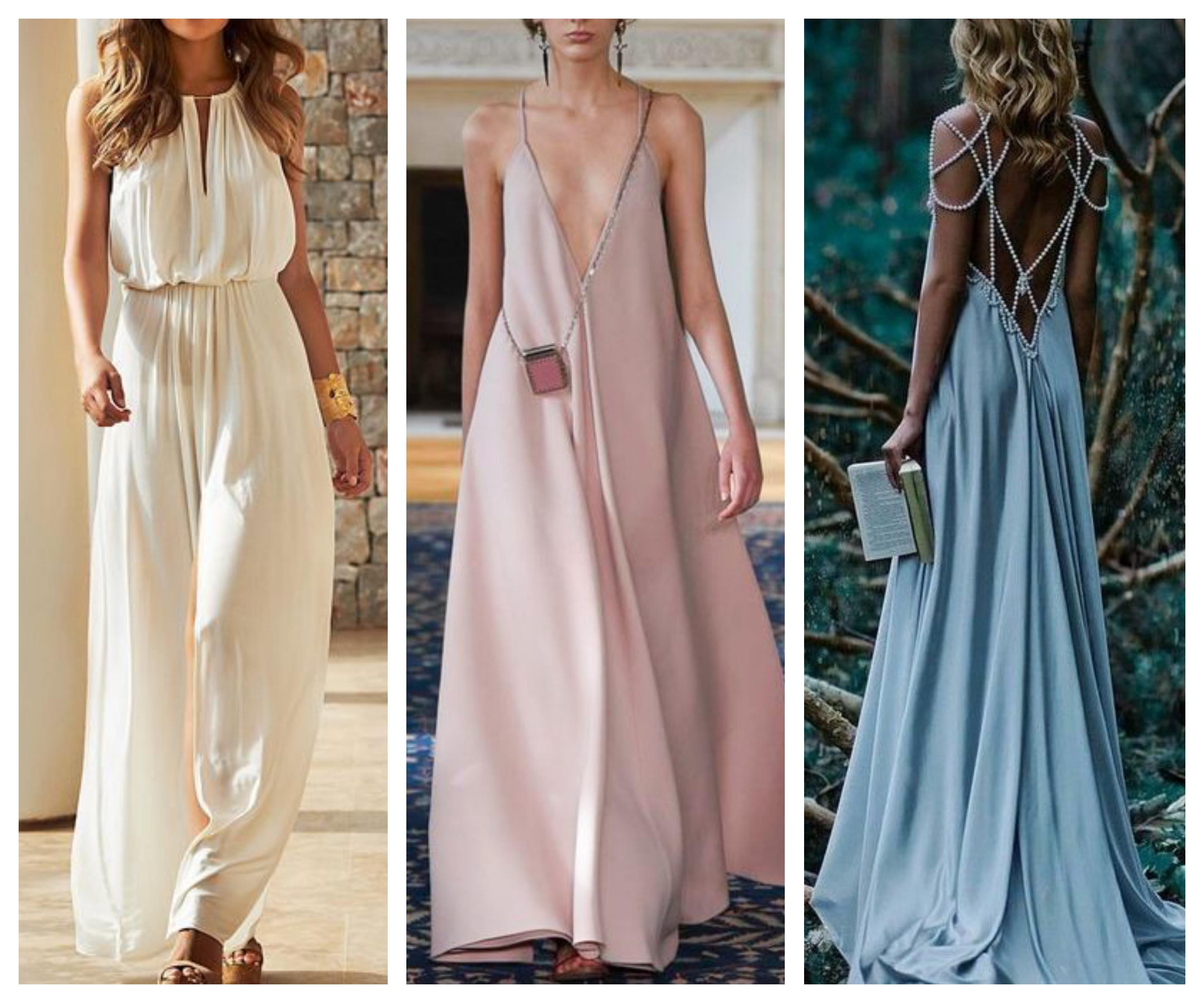 Вечернее платье в стиле бохо