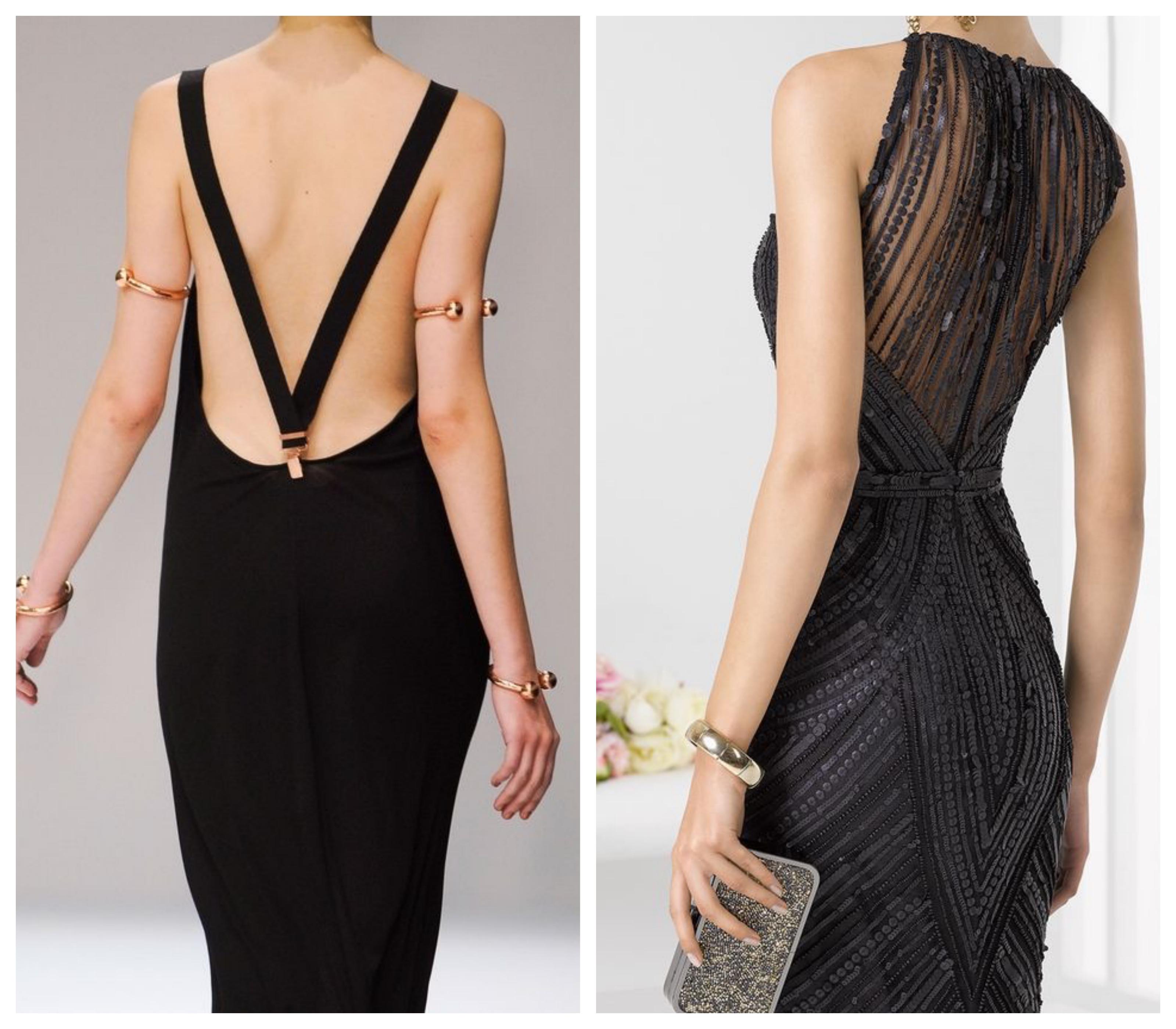 Открытая спина в вечернем платье