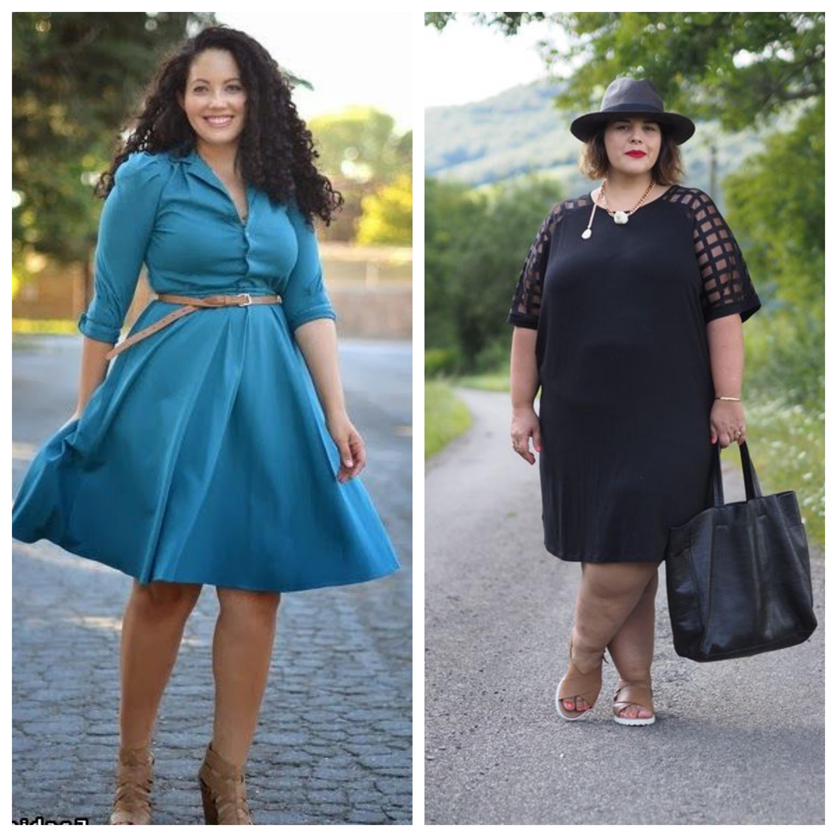 Строгое платье для полных