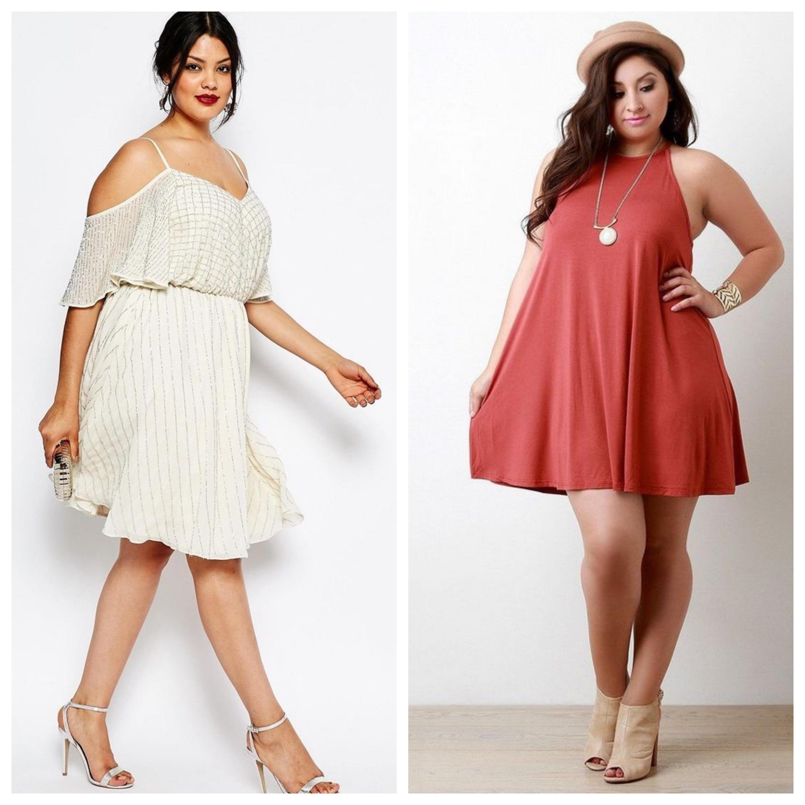 Летнее платье для полных девушек