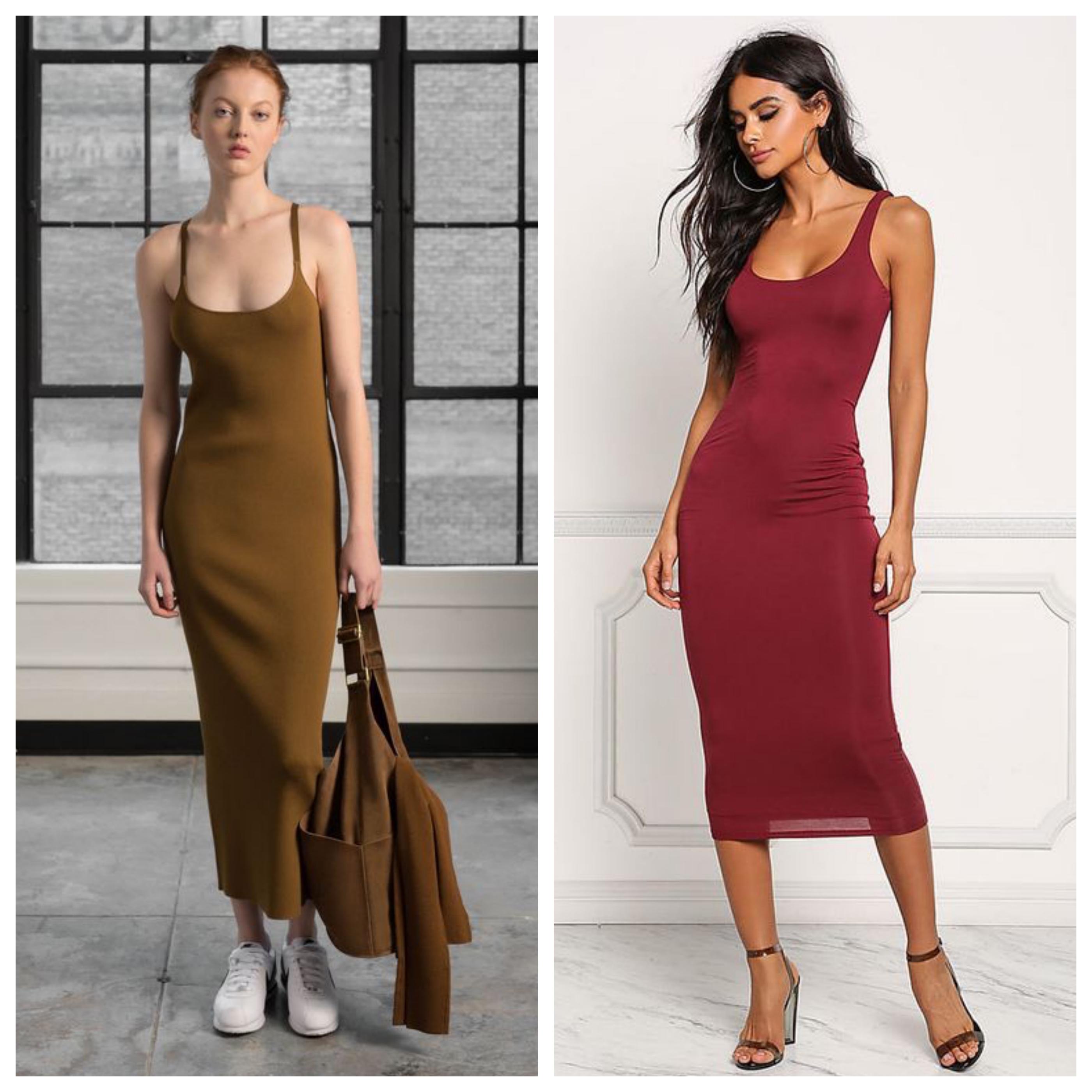 Трикотажное летнее платье