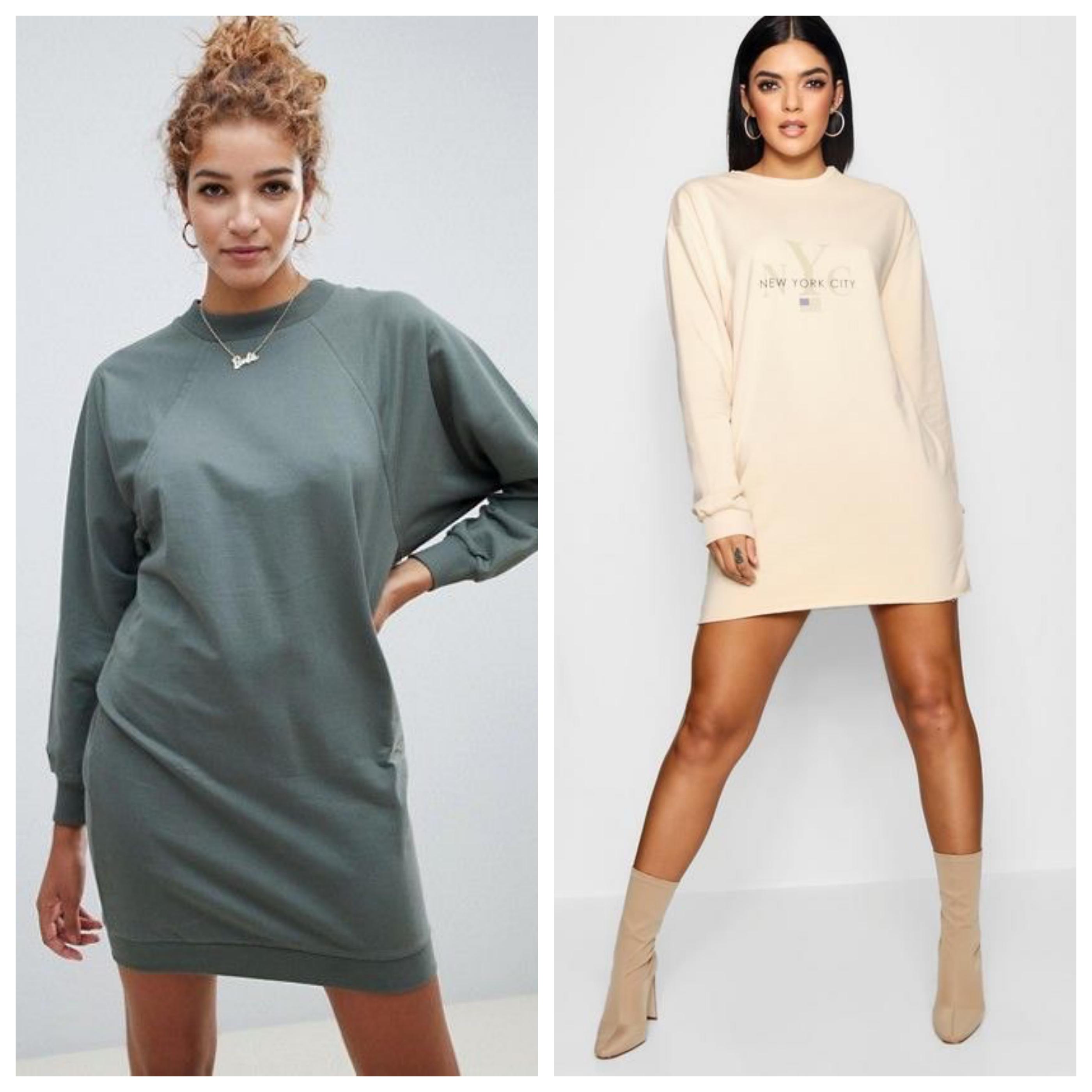 Трикотажное платье свитер