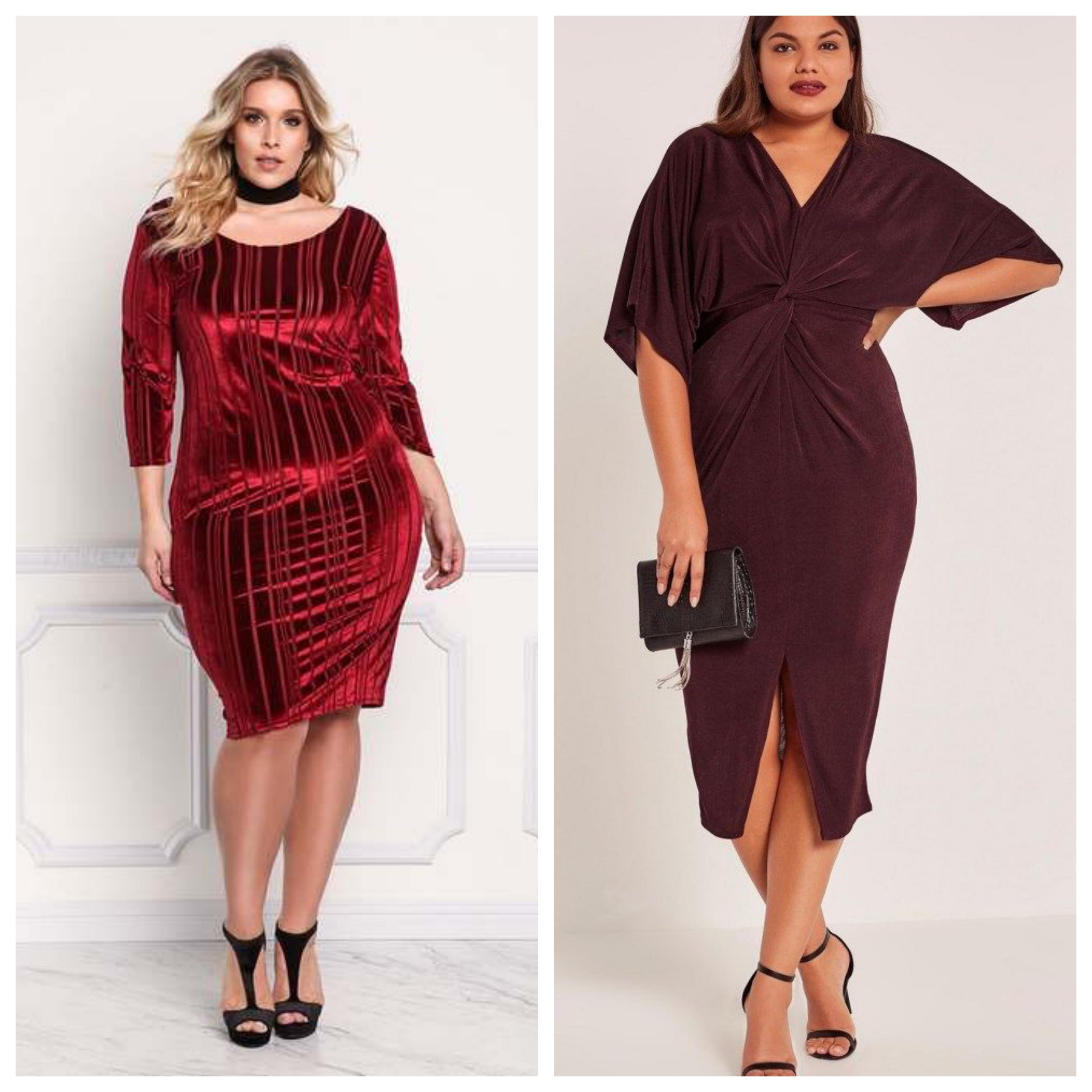 Вечернее красное платье для полных девушек