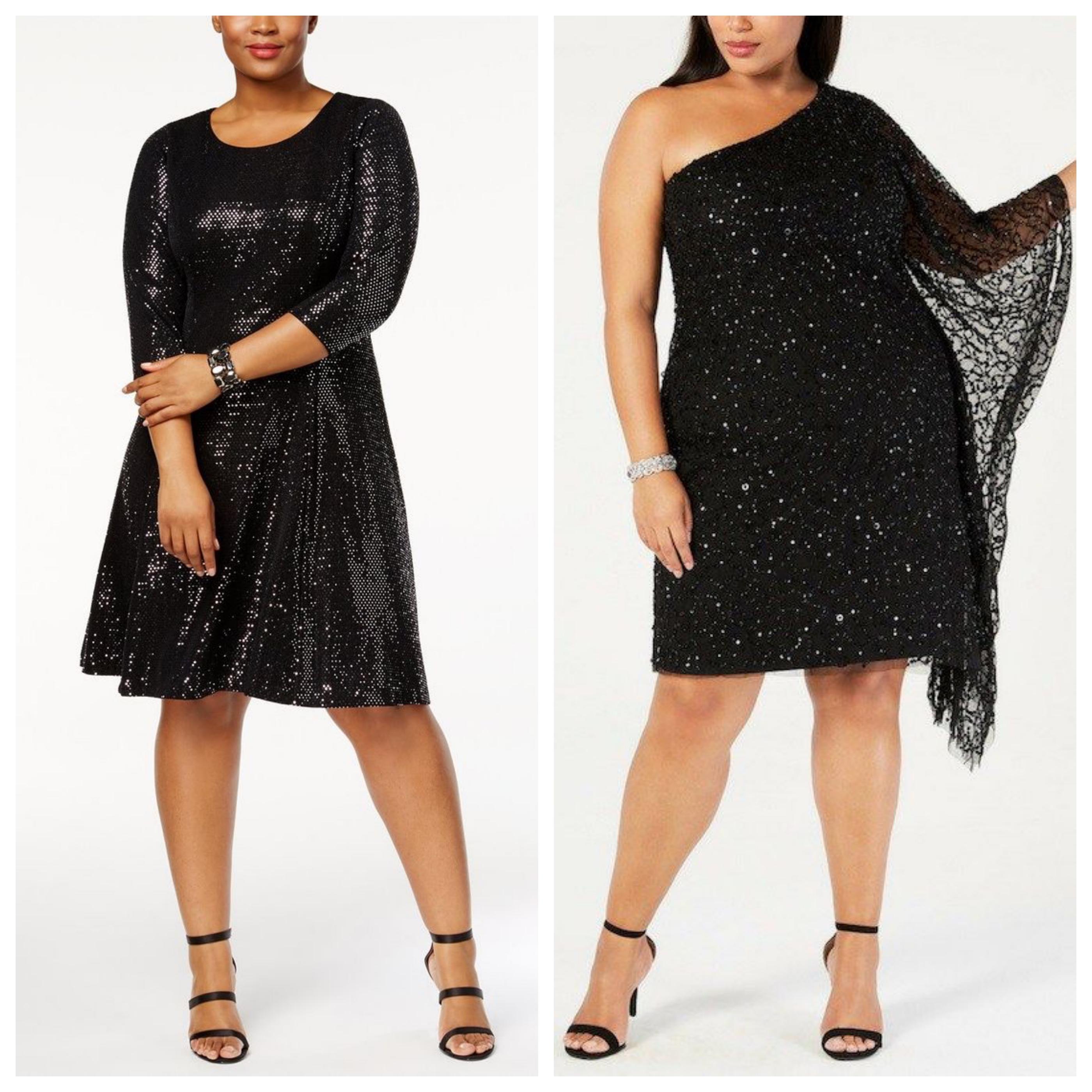 Маленькое черное платье больших размеров