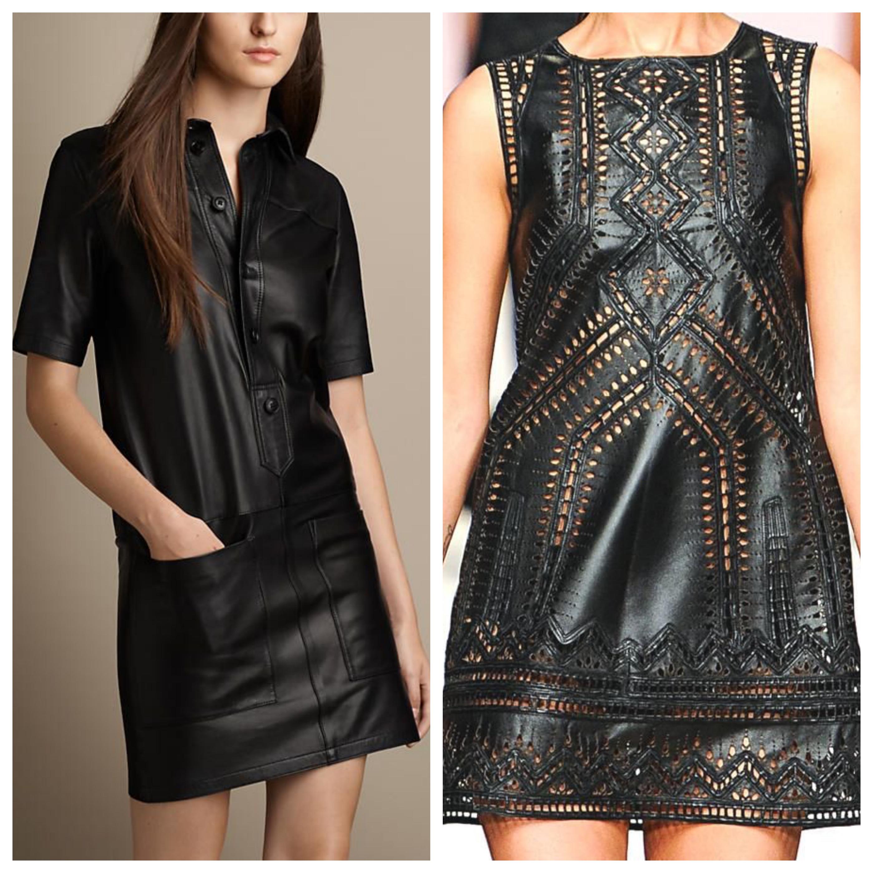 Маленькое черное платье из кожи