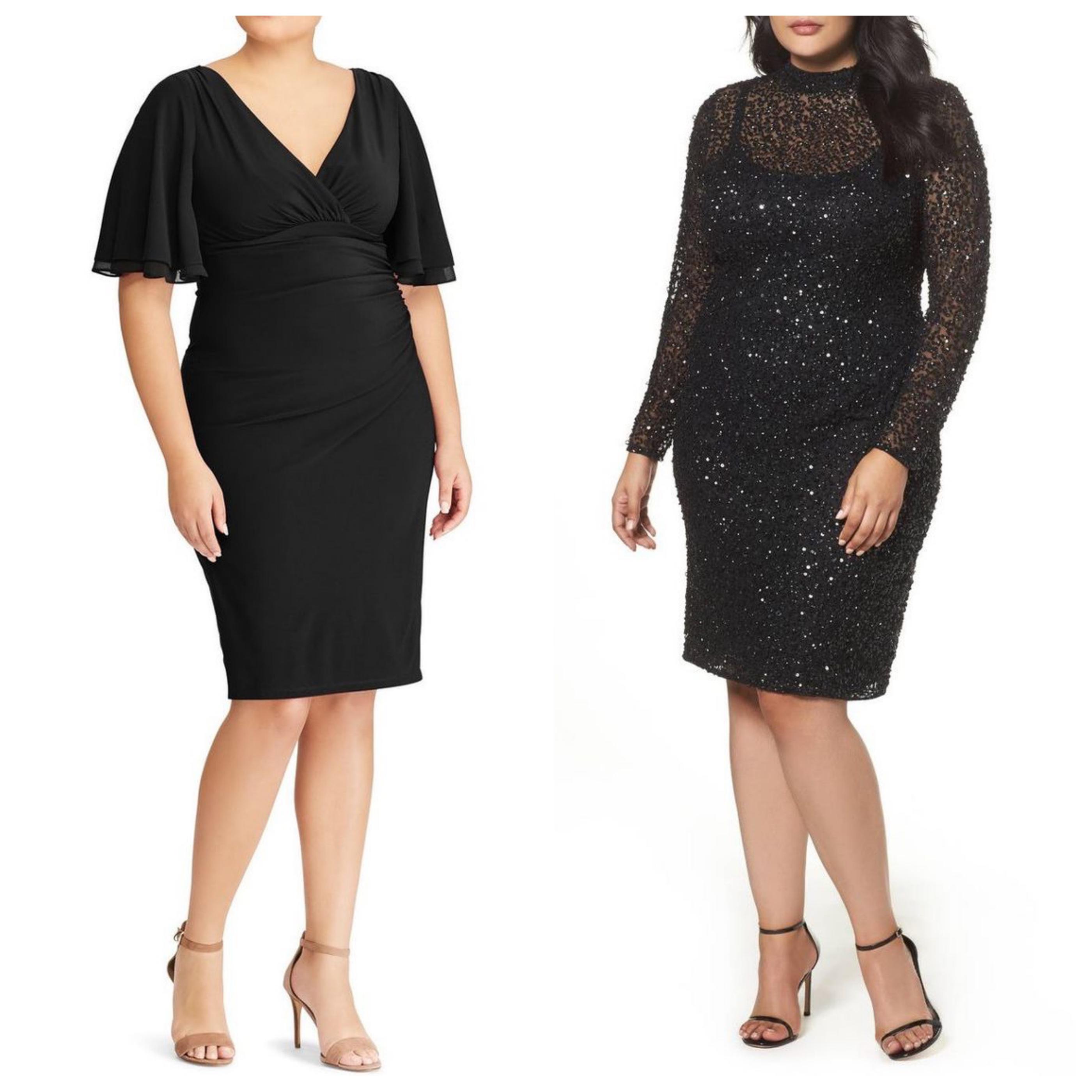 Маленькое черное платье для полных девушек